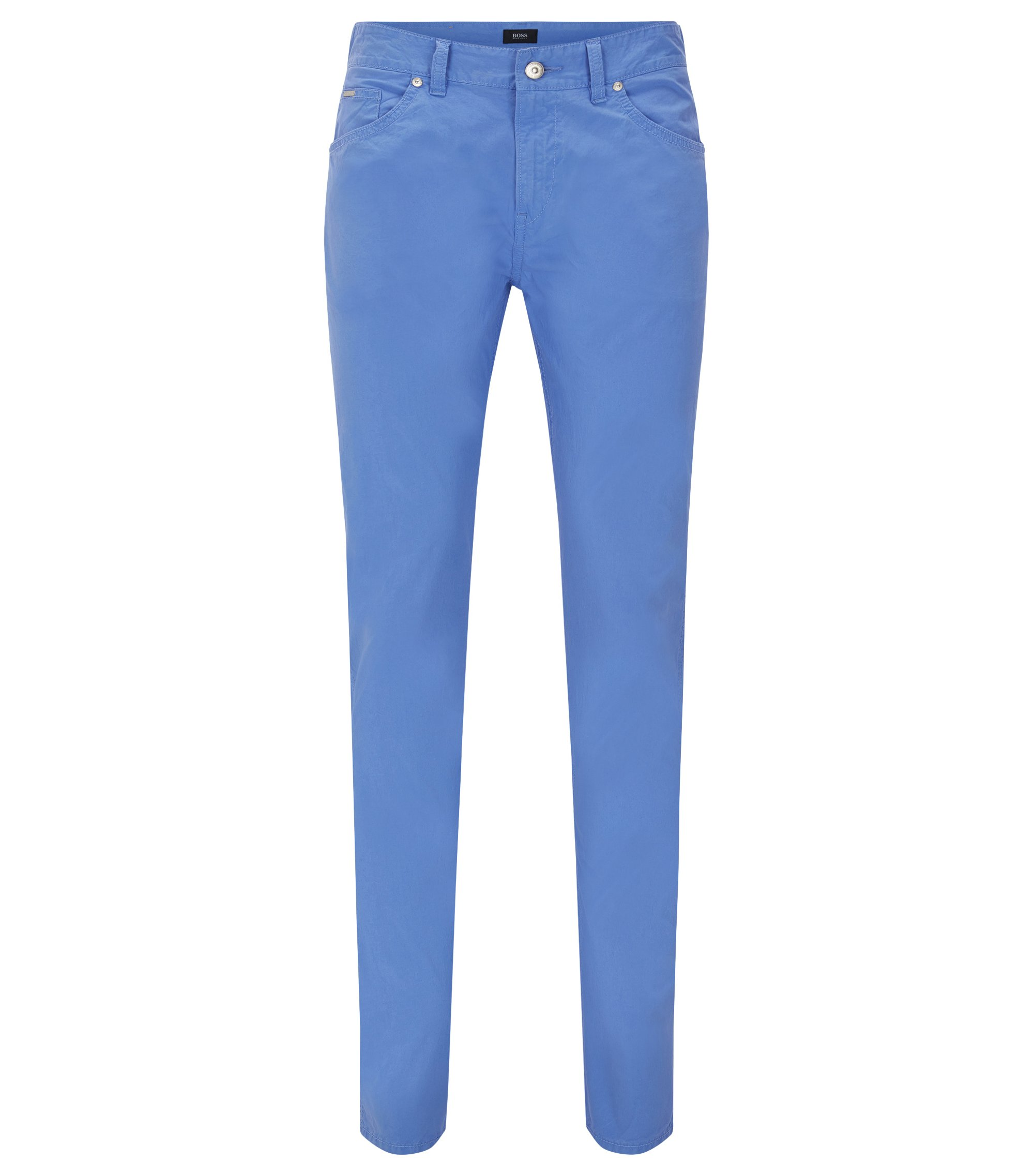 Stretch Cotton Pant, Slim Fit | Delaware, Blue