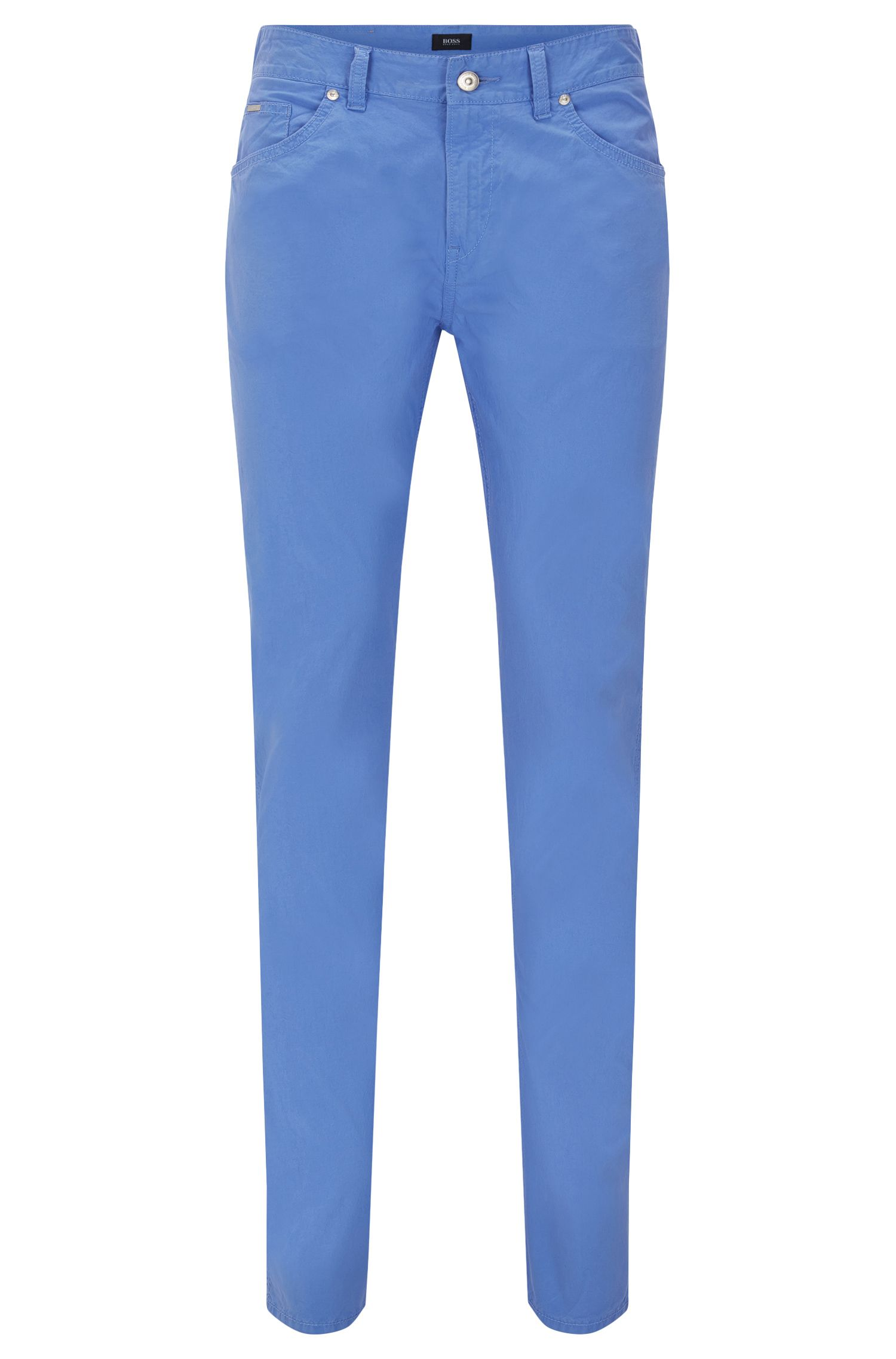 'Delaware' | Slim Fit, Stretch Cotton Trousers