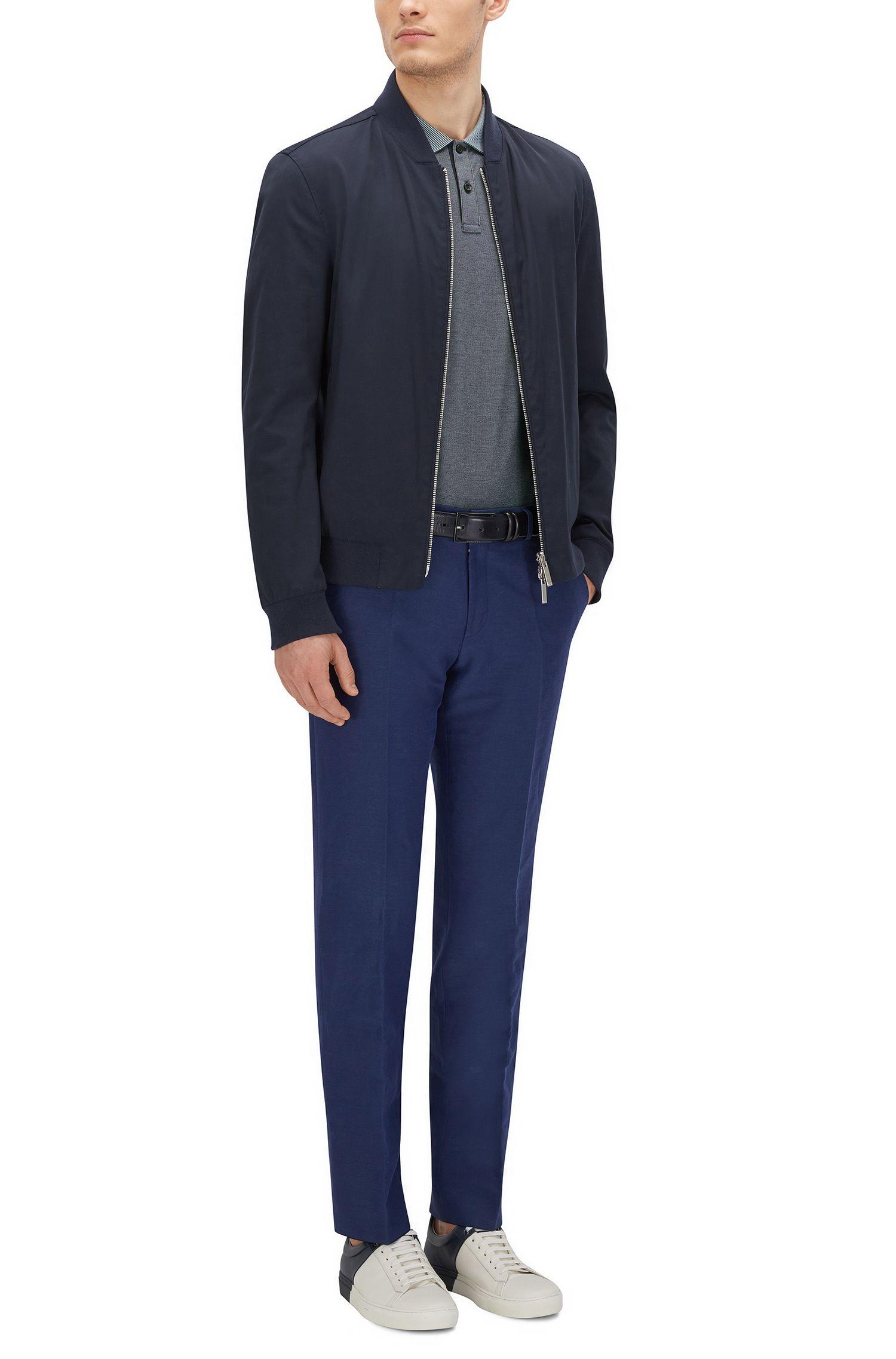 Cotton Polo Shirt, Regular Fit | Parlay , Dark Blue