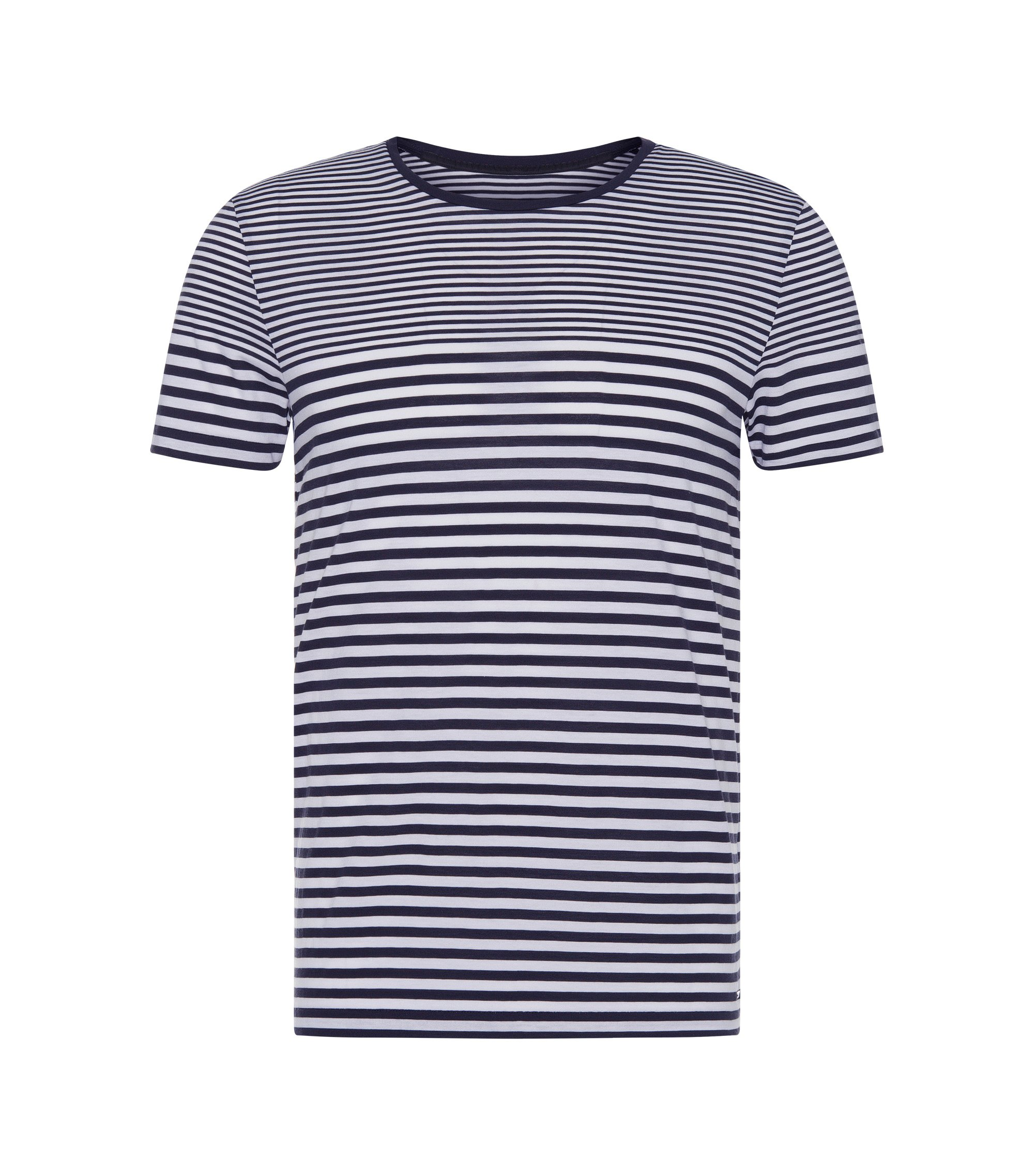 Cotton Engineered Stripe T-Shirt   Tessler WS, Dark Blue