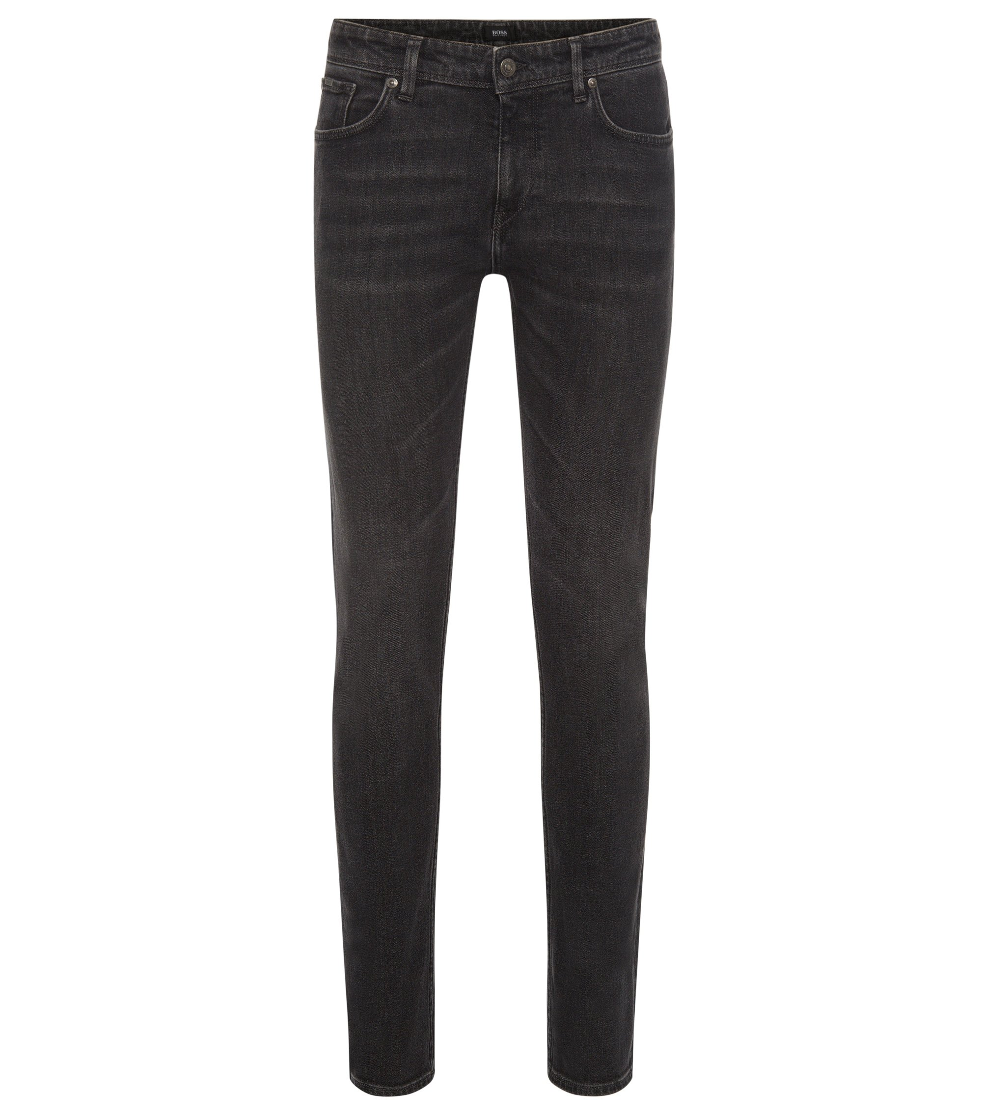 Stretch Cotton Jean, Slim Fit | Charleston, Charcoal