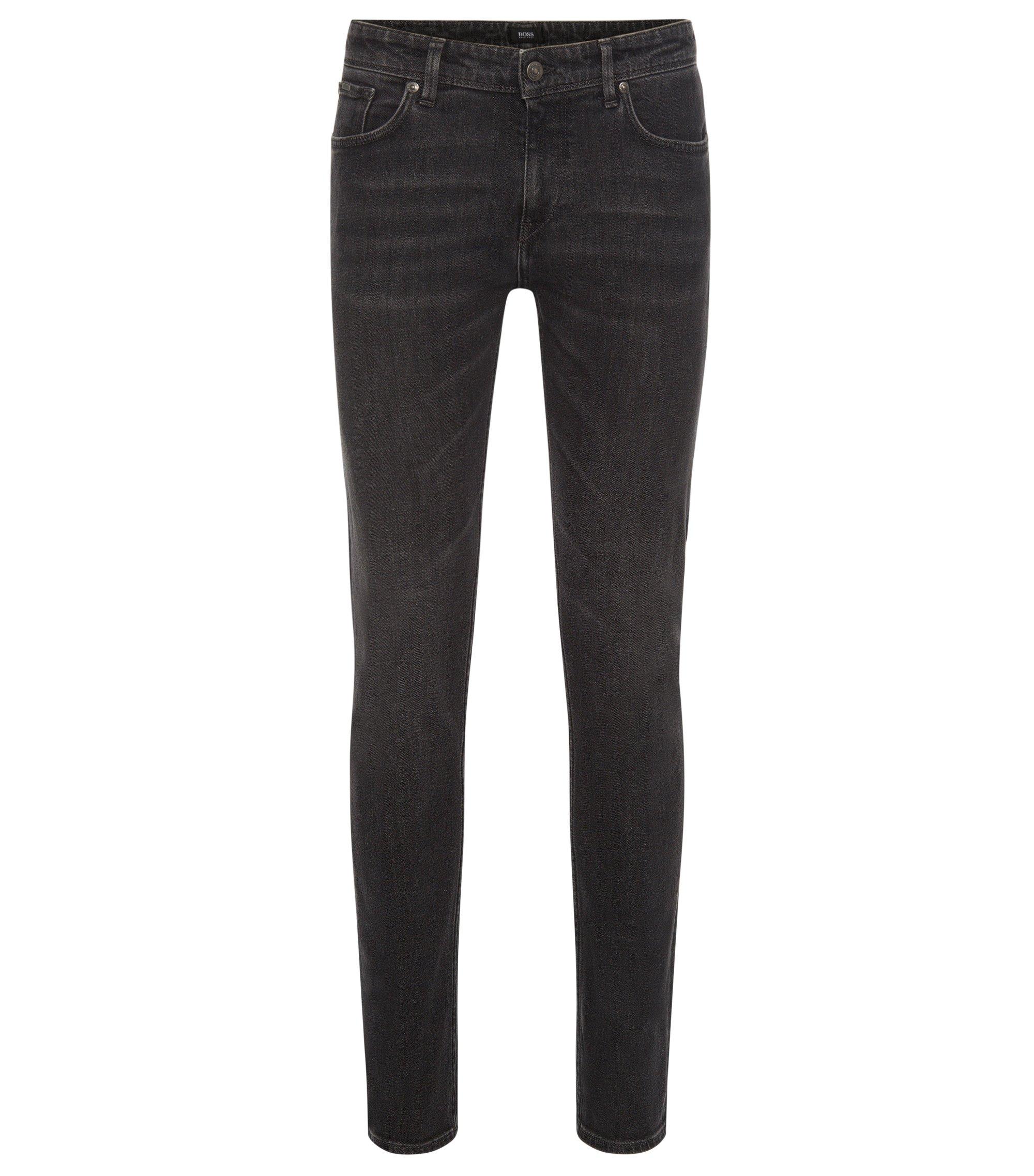 11.25 oz Stretch Cotton Jeans, Slim Fit | Charleston, Charcoal