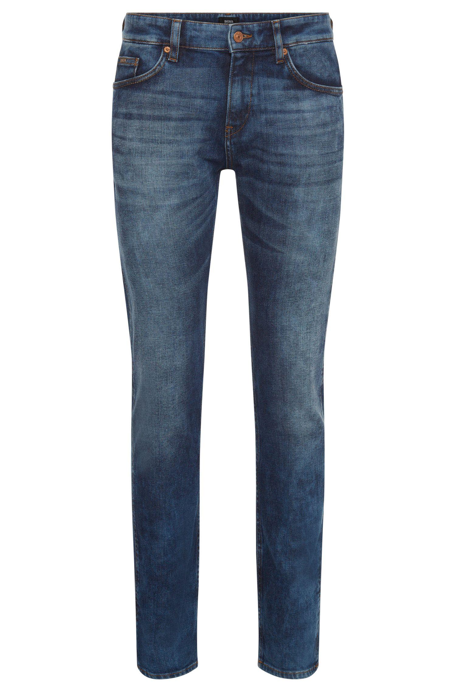 11 oz Stretch Cotton Jeans, Slim Fit   Delaware, Blue