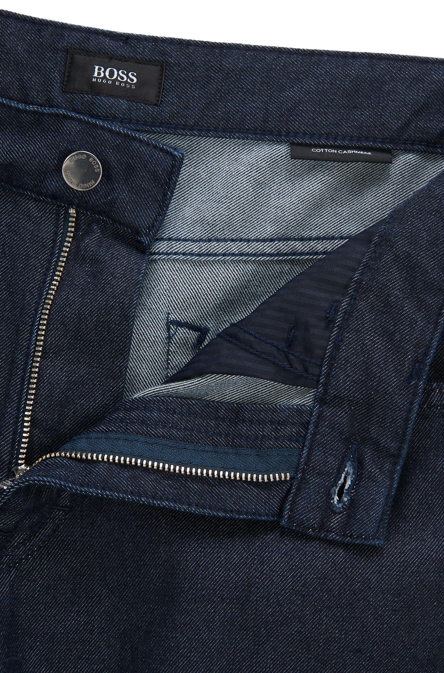 9.5 oz Cotton Cashmere Jeans, Comfort Fit | Albany, Dark Blue