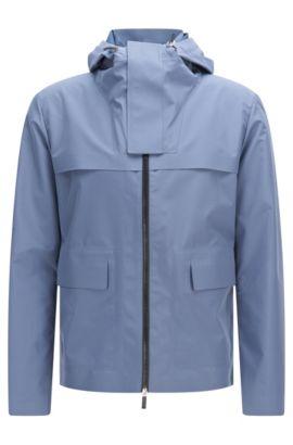 'Ceberus' | Water Repellent Hooded Windbreaker Jacket, Open Blue