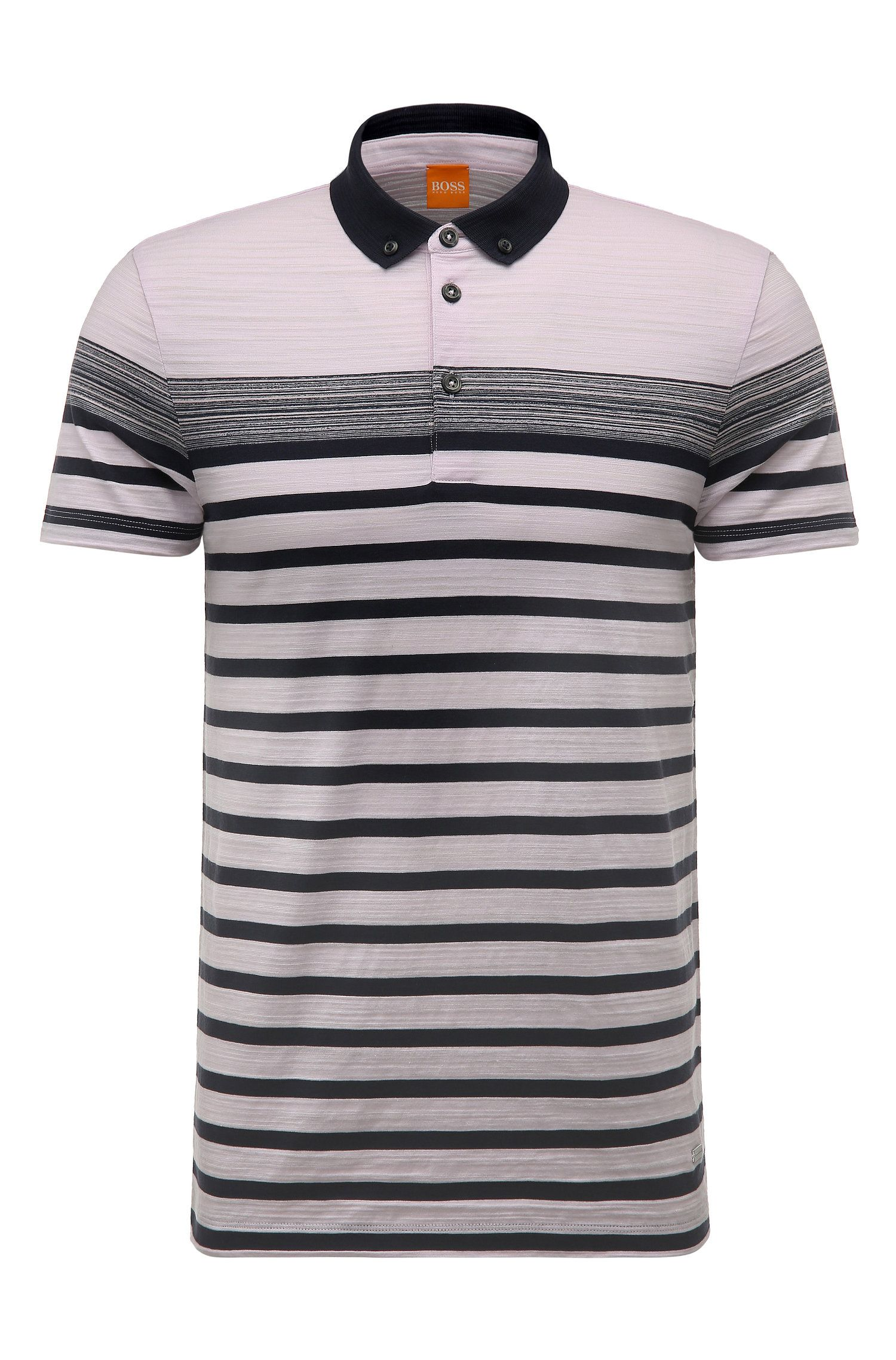 Striped Cotton Polo Shirt, Regular Fit | Promo