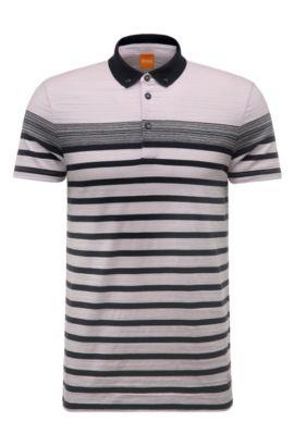 Striped Cotton Polo Shirt, Regular Fit | Promo, light pink