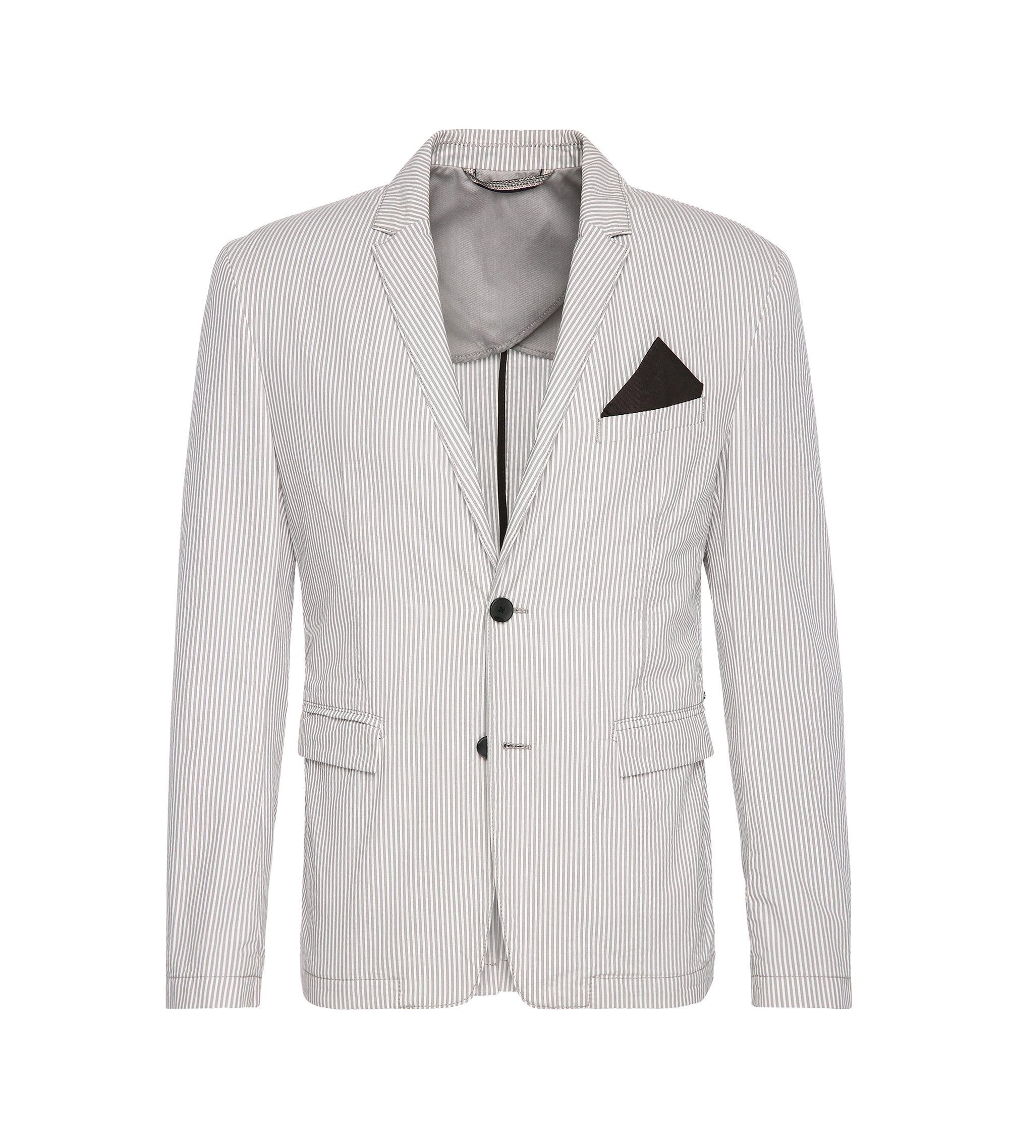 Cotton Seersucker Sport Coat, Slim Fit | Bans BS W, Open White