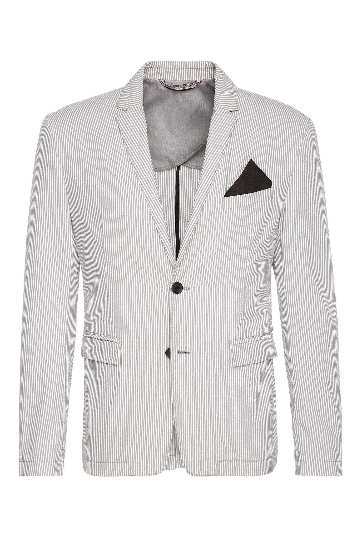 'Bans BS W'   Slim Fit, Cotton Seersucker Sport Coat