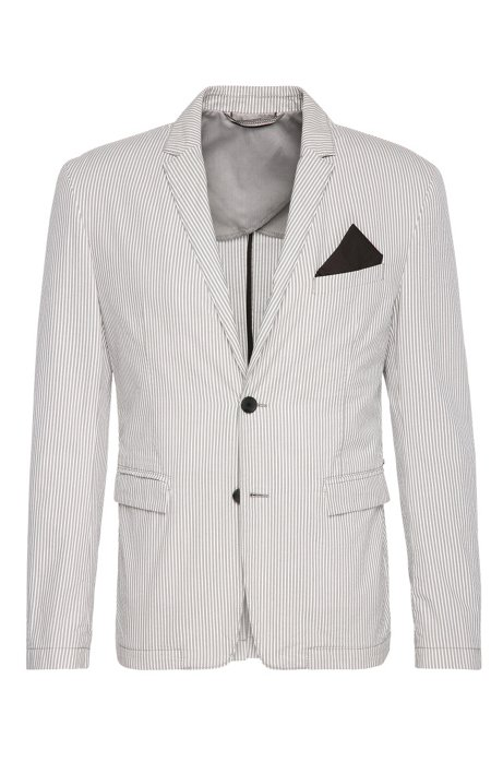 705d31dbad1 Cotton Seersucker Sport Coat, Slim Fit | Bans BS W, Open White