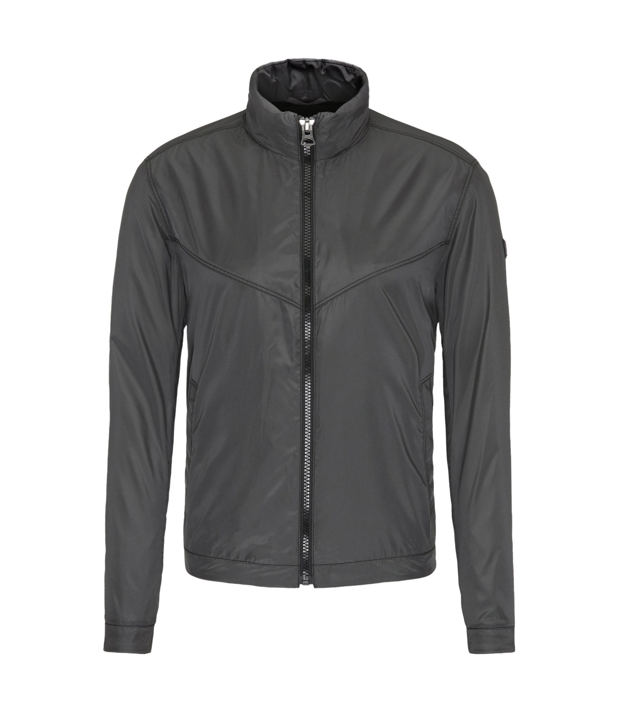 Checked Lightweight Jacket   Ombay, Black