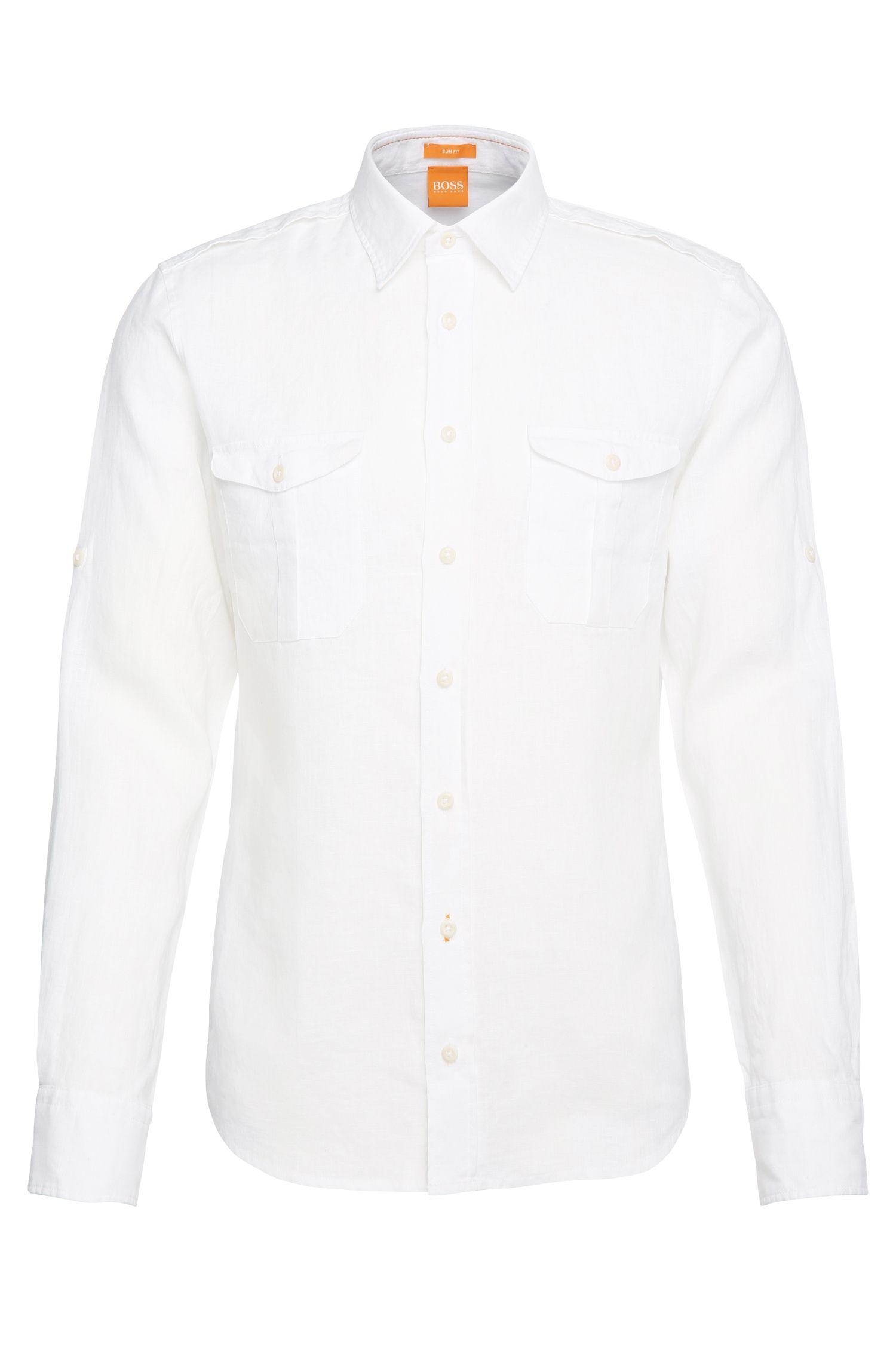 Cotton Button Down Shirt, Slim Fit | Cadetto
