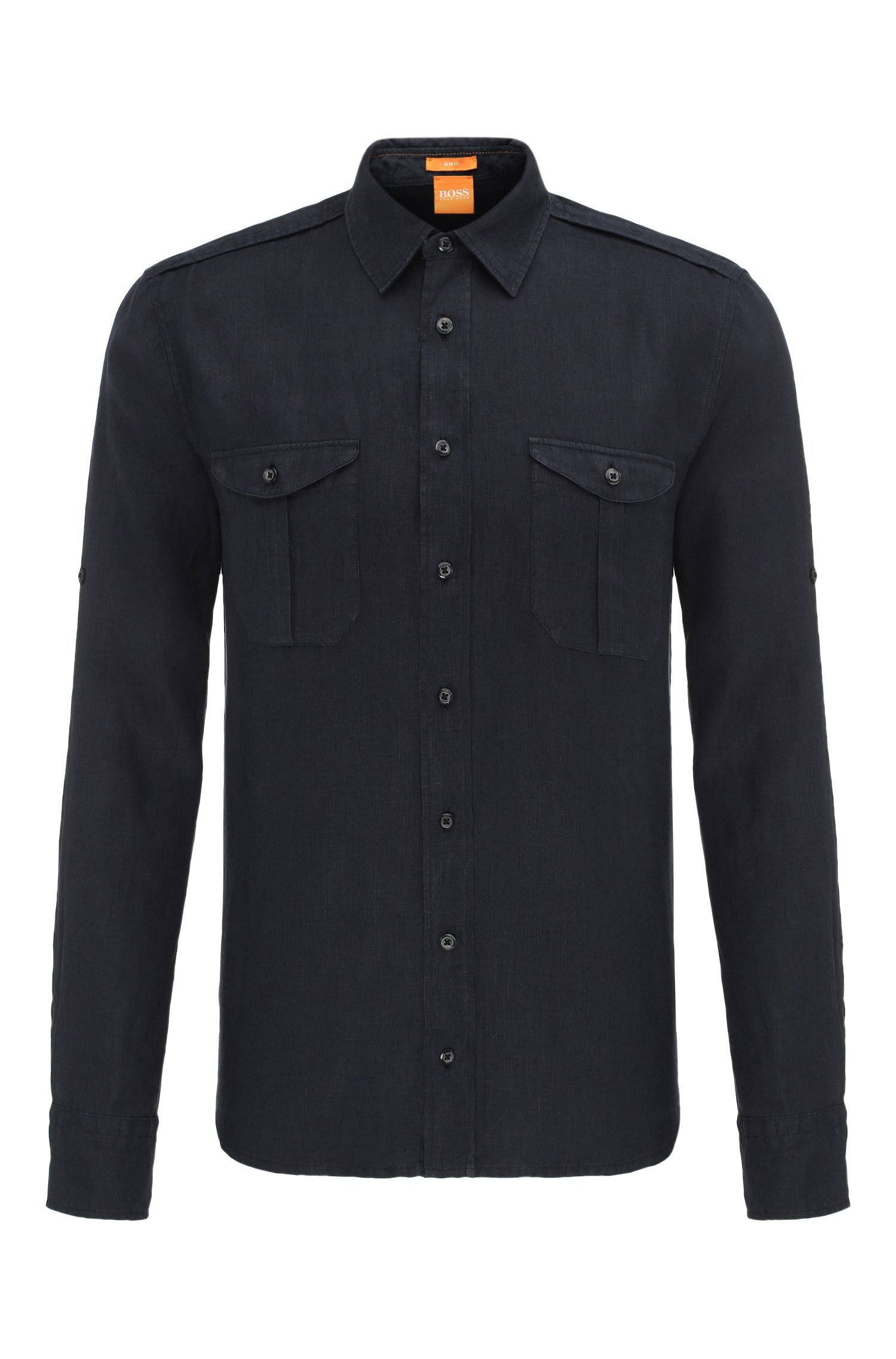 'Cadetto' | Slim Fit, Cotton Button Down Shirt