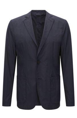 'Noas' | Slim Fit, Nylon Packable Travel Jacket, Dark Blue