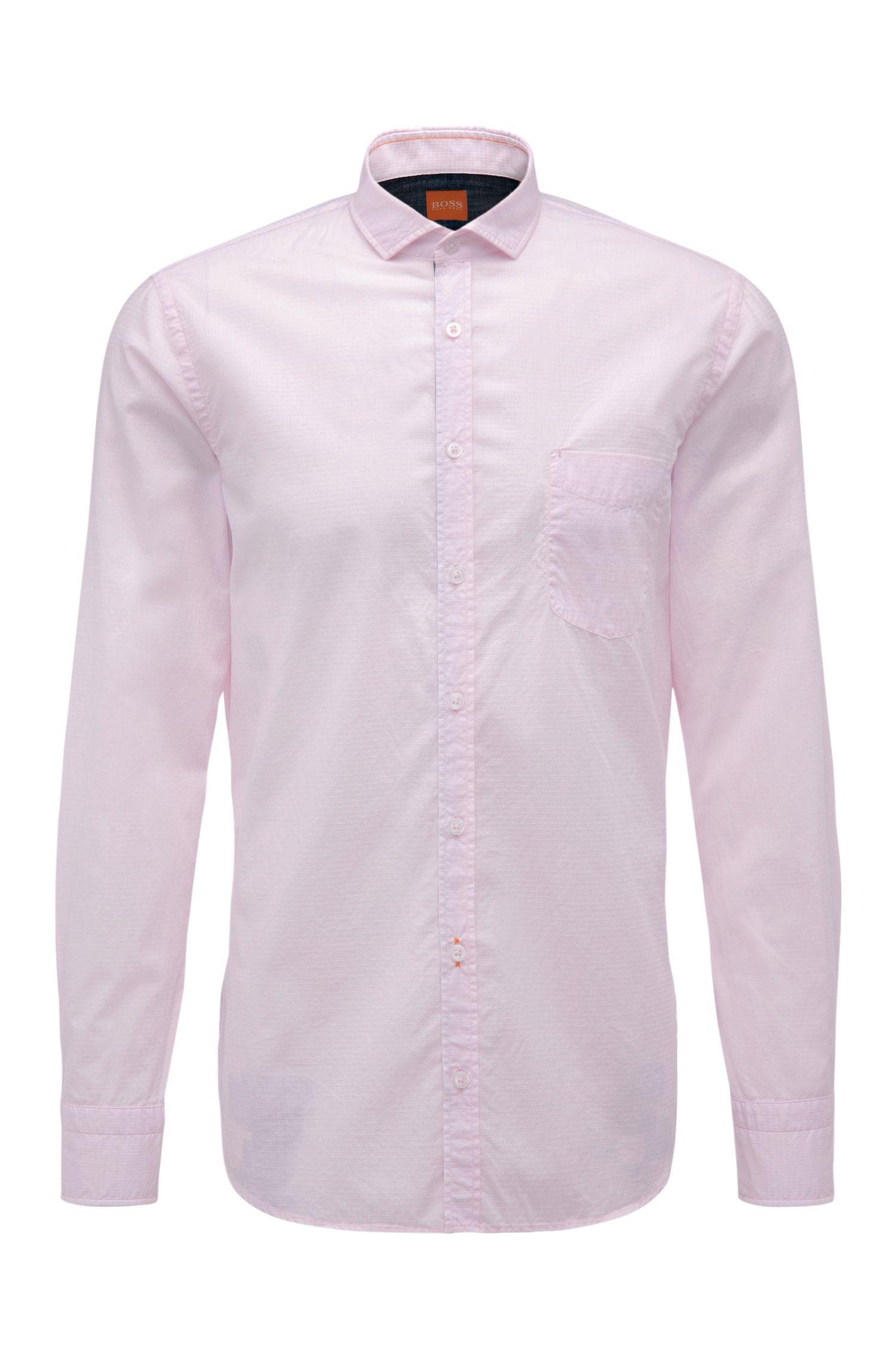 'Cattitude' | Slim Fit, Cotton Button Down Shirt
