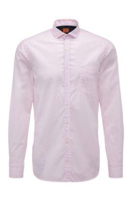 'Cattitude' | Slim Fit, Cotton Button Down Shirt, light pink