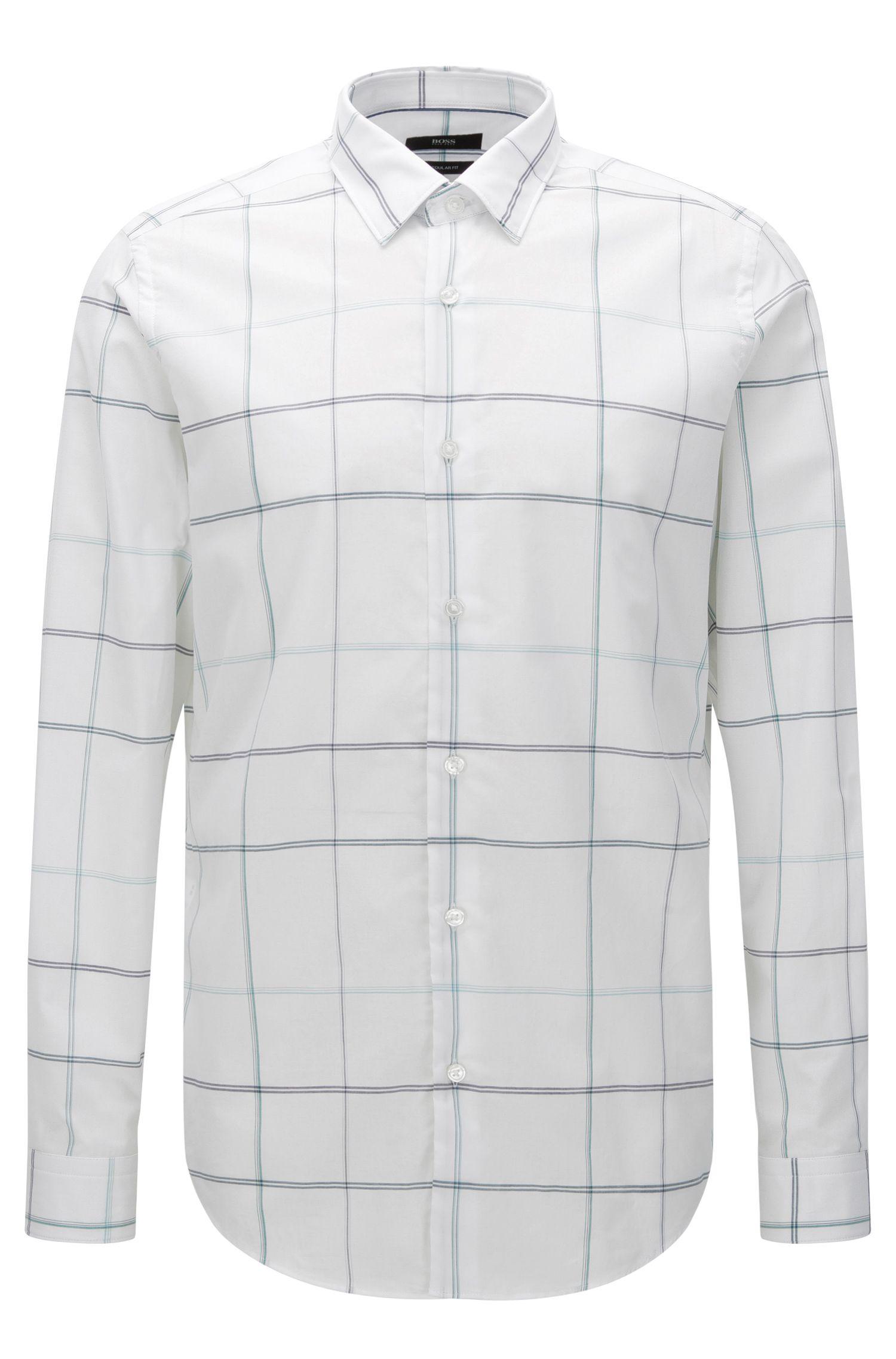 'Lukas F' | Regular Fit, Cotton Button Down Shirt