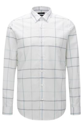 'Lukas F' | Regular Fit, Cotton Button Down Shirt, White