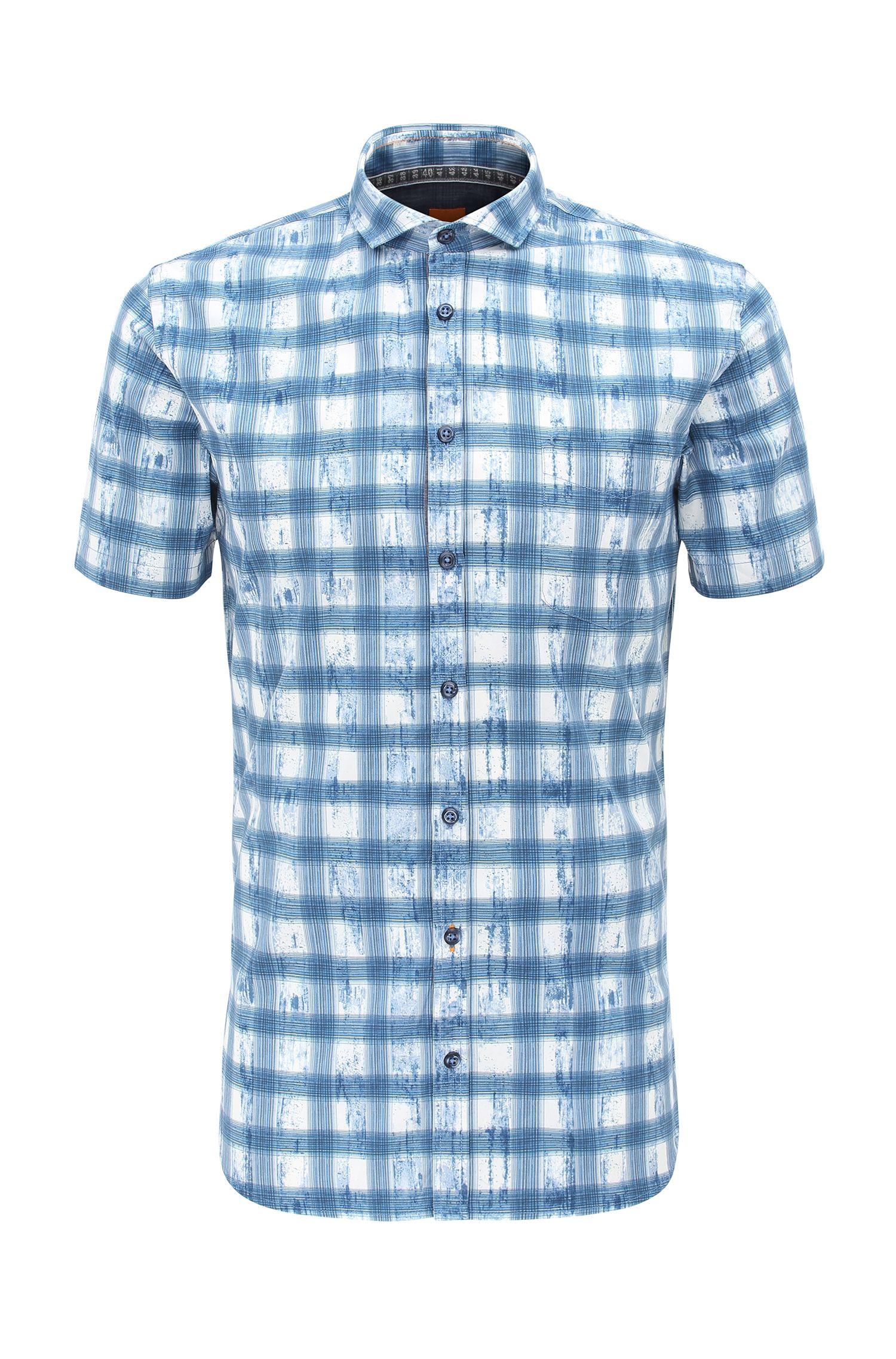 'Catitude Short' | Slim Fit, Cotton Short Sleeve Sport Shirt