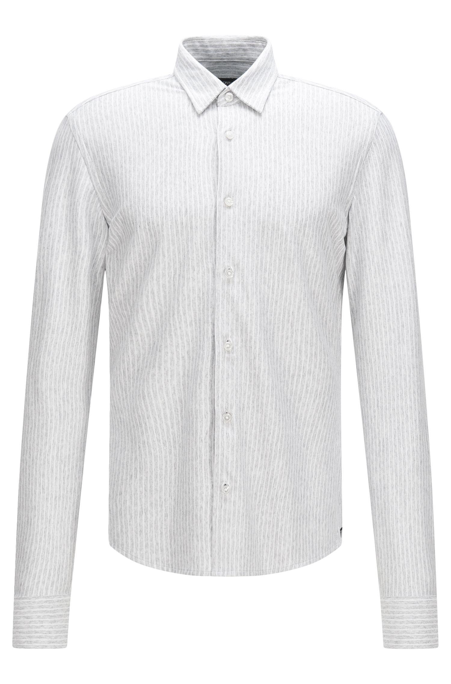 'Reid F'   Slim Fit, Cotton Jersey Button Down Shirt