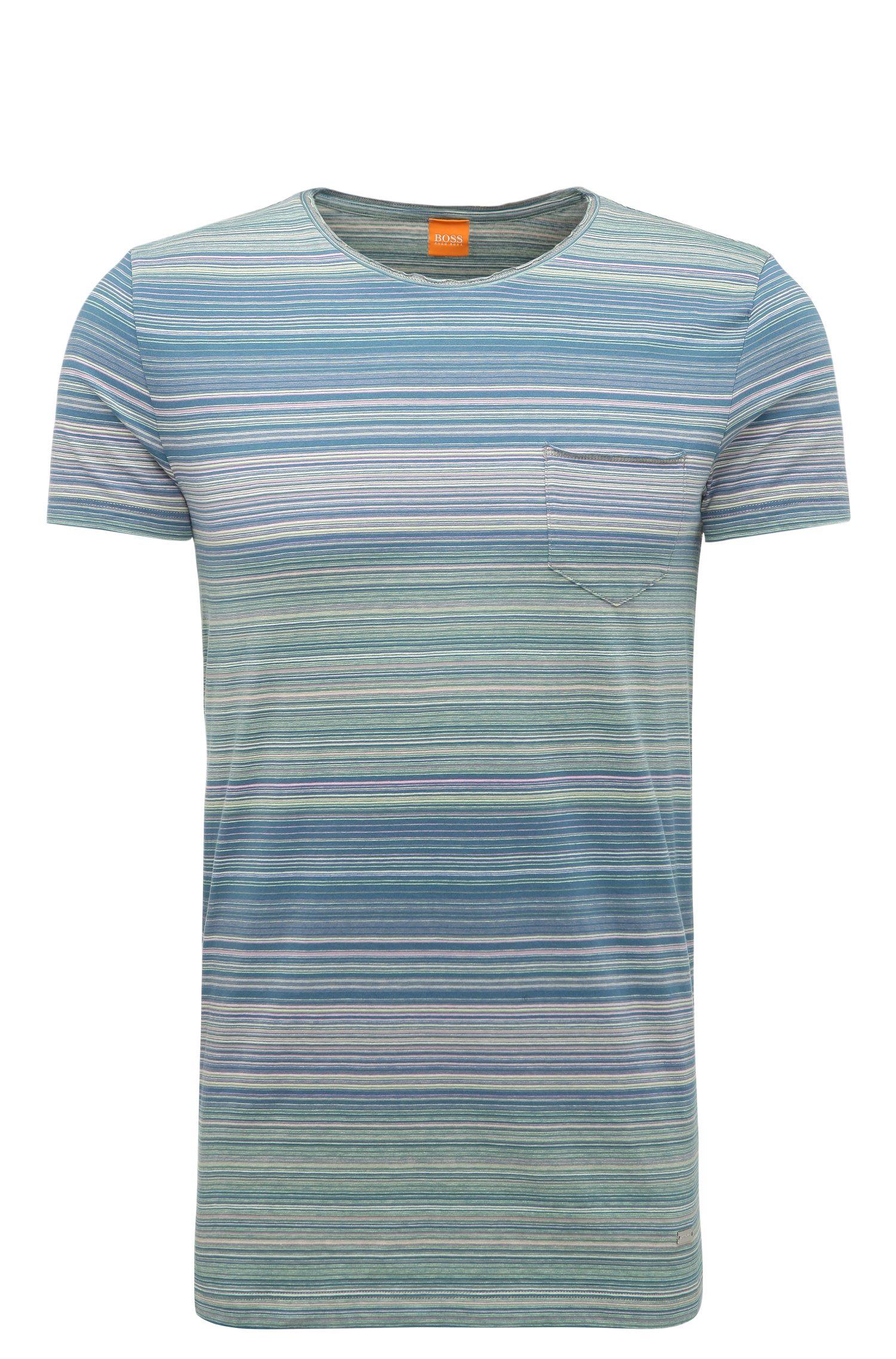 'Tedryk' | Slim-Fit Striped Cotton T-Shirt