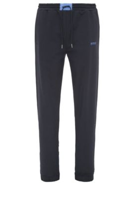 'Halko' | Stretch Cotton Sweat Pants , Dark Blue