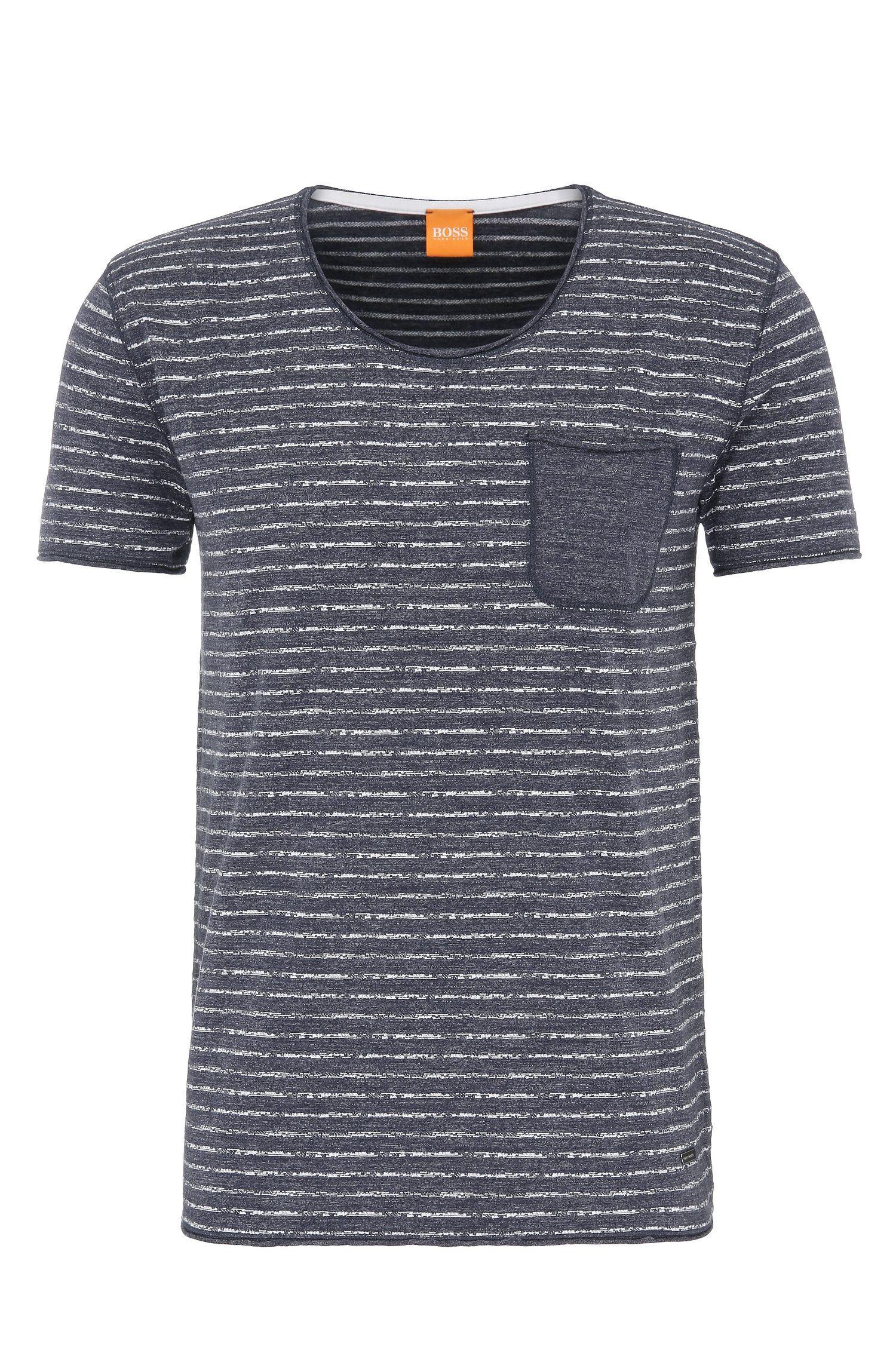 Cotton Stripe Pocket T-Shirt   Toa