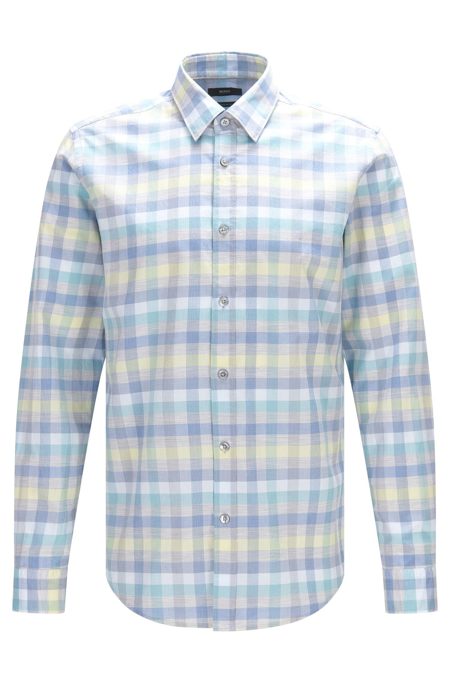 Cotton Button Down Shirt, Regular Fit | Lukas
