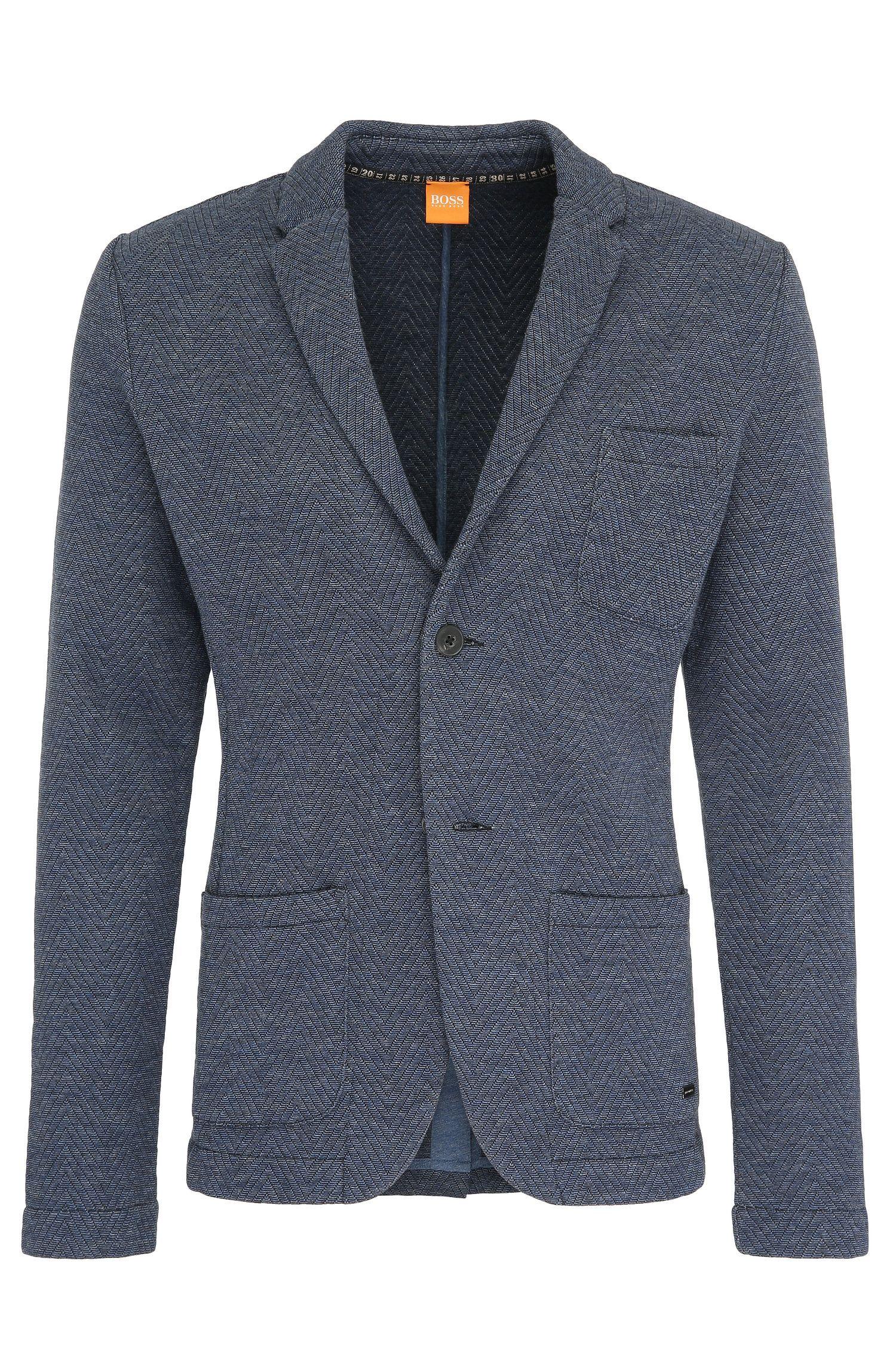 'Ward' | Slim Fit, Cotton Blend Bonded Jersey Sport Coat