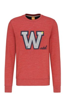 'Wariety' | Cotton Applique Sweatshirt, Red
