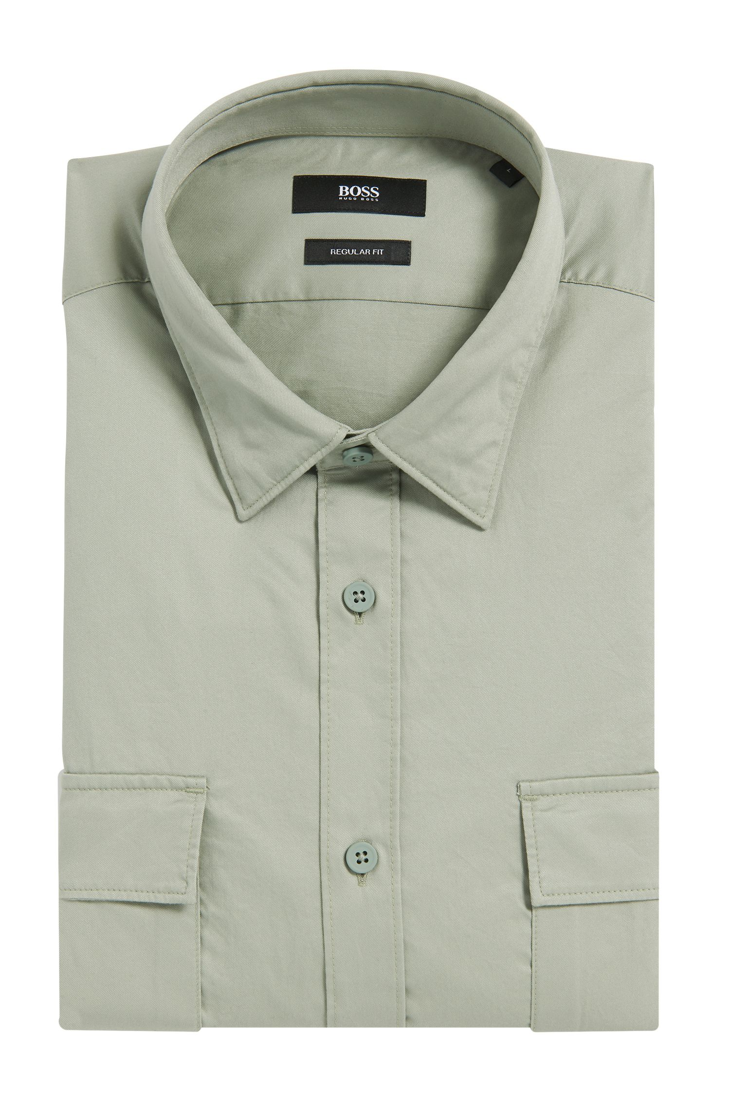 Cotton Button Down Shirt, Regular Fit | Lorin