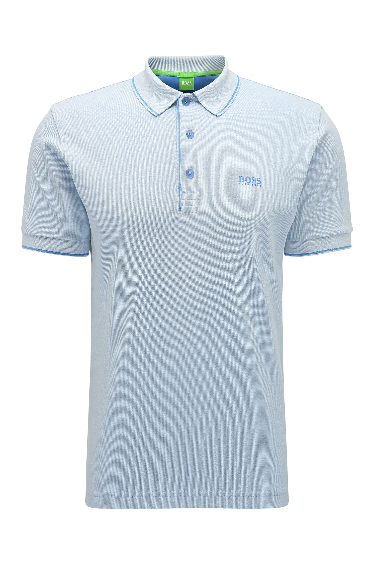 Stretch Cotton Blend Polo, Slim Fit | Paule