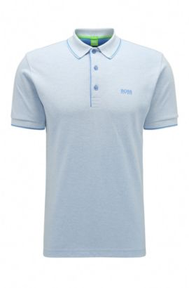Stretch Cotton Blend Polo, Slim Fit | Paule, Blue