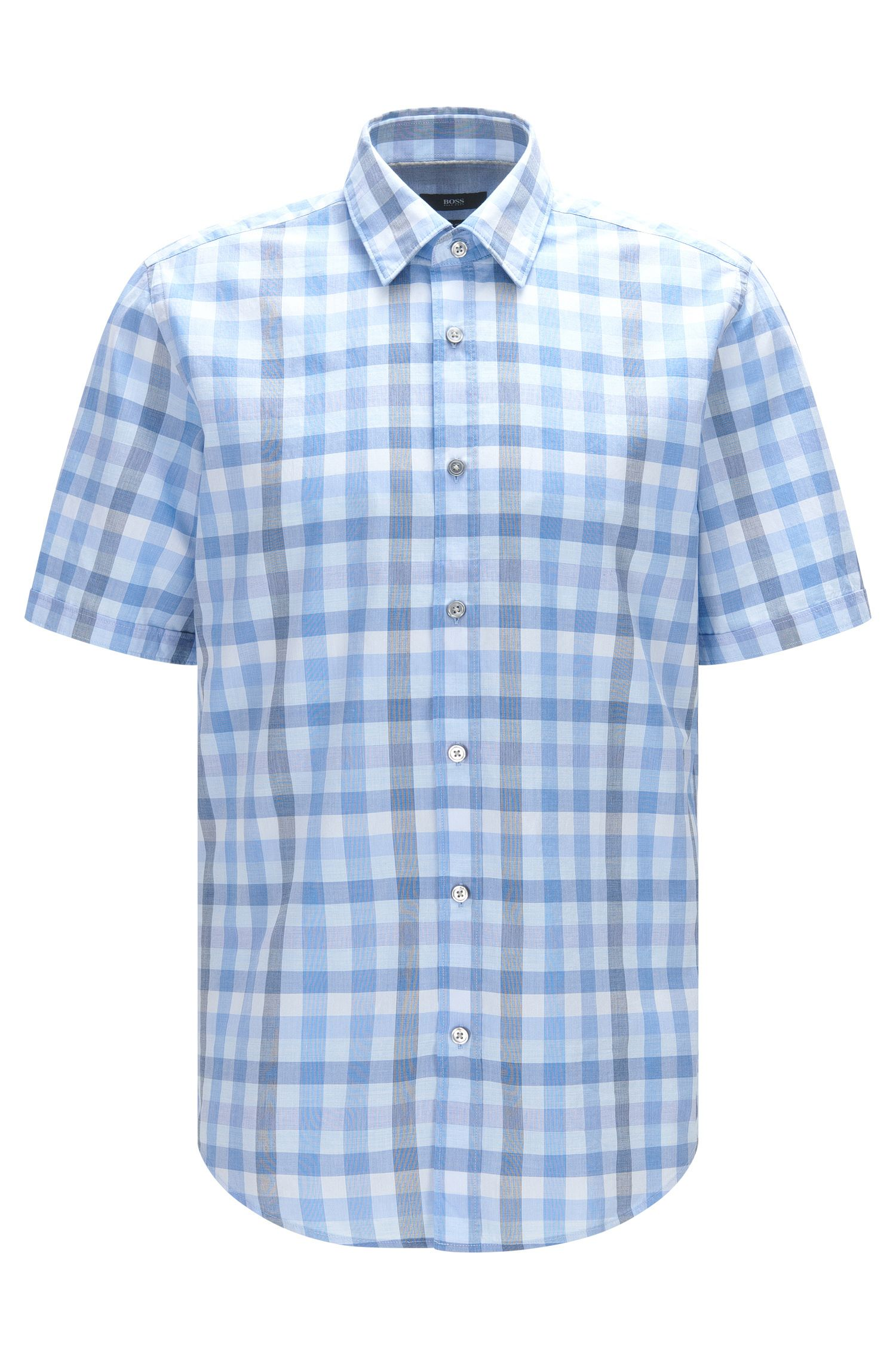 'Luka' | Regular Fit, Check Cotton Button Down Shirt
