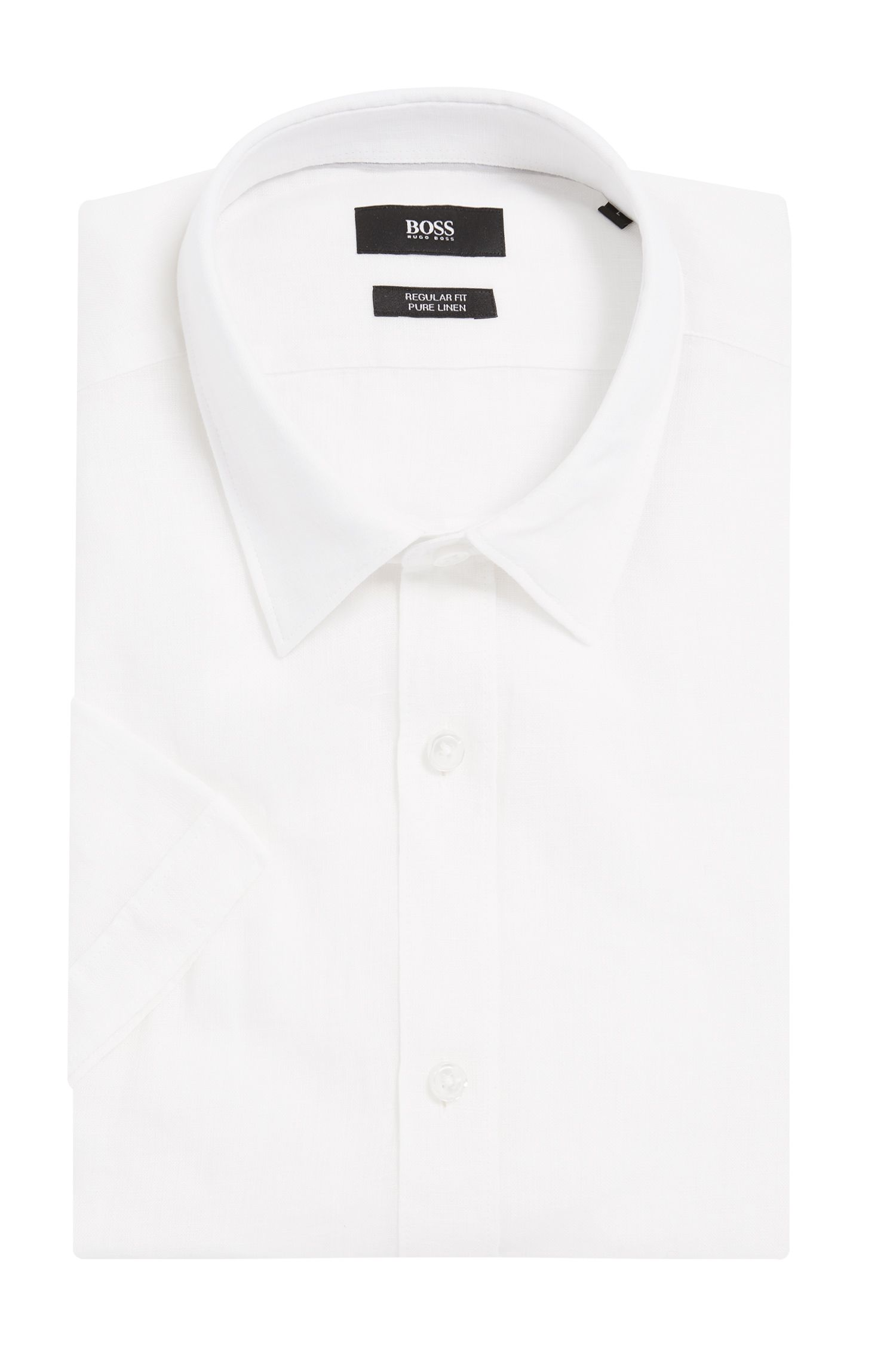 Linen Button Down Shirt, Regular Fit | Luka, White