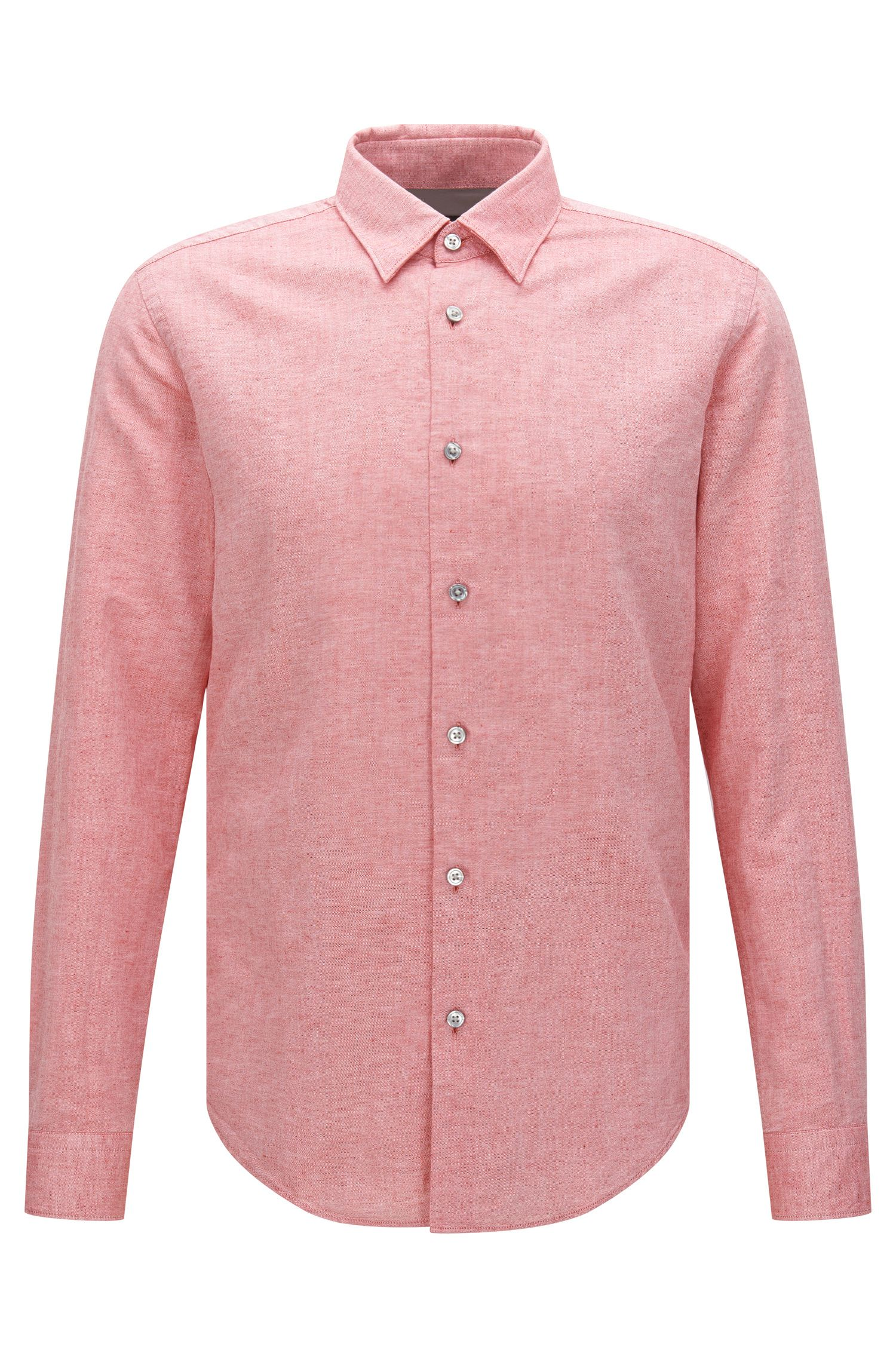'Rodney' | Slim Fit, Cotton Linen Button Down Shirt