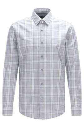 'Lukas' | Regular Fit, Cotton Button Down Shirt, Open Blue