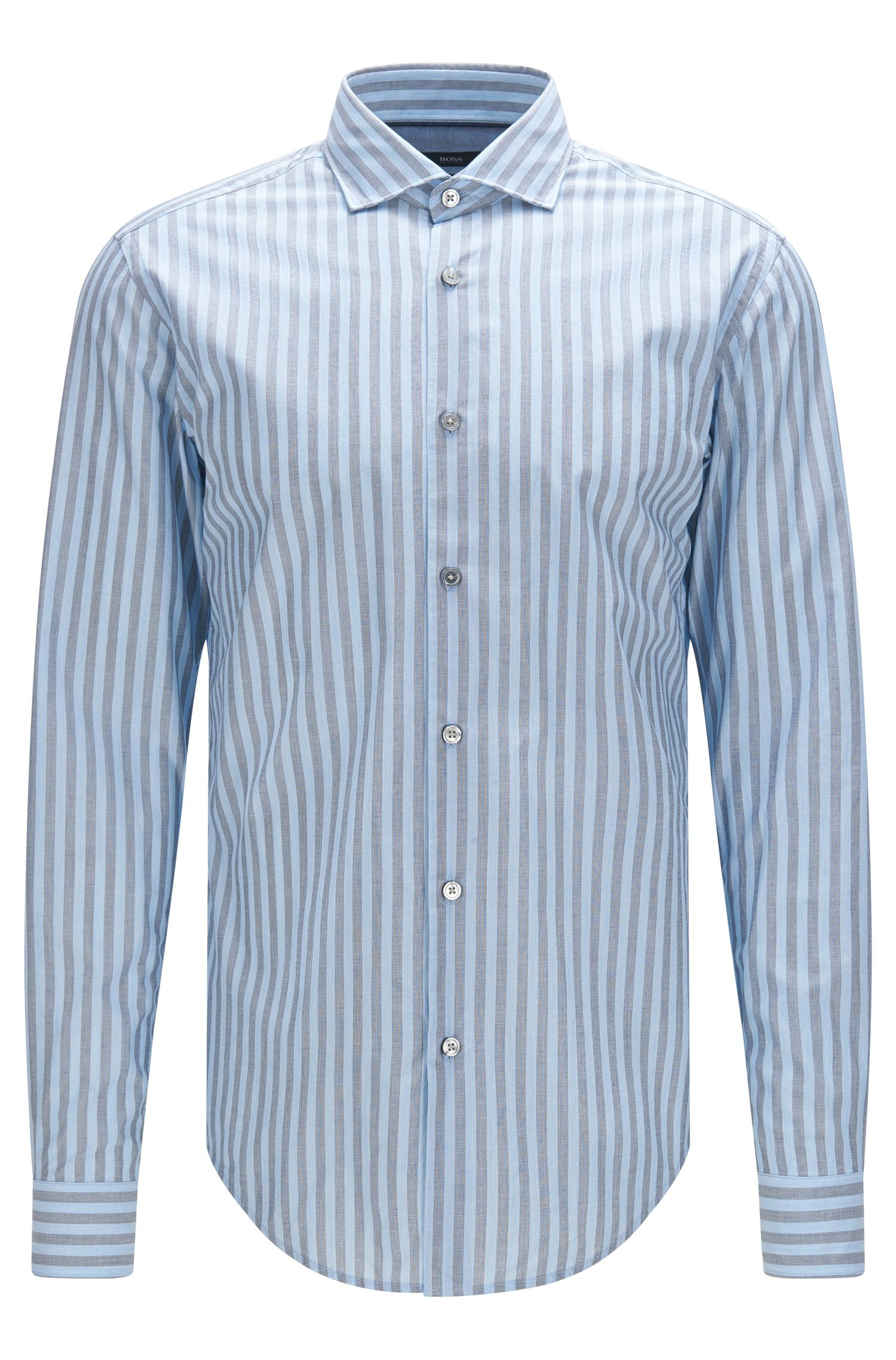 'Ridley' | Slim Fit, Cotton Striped Button Down Shirt