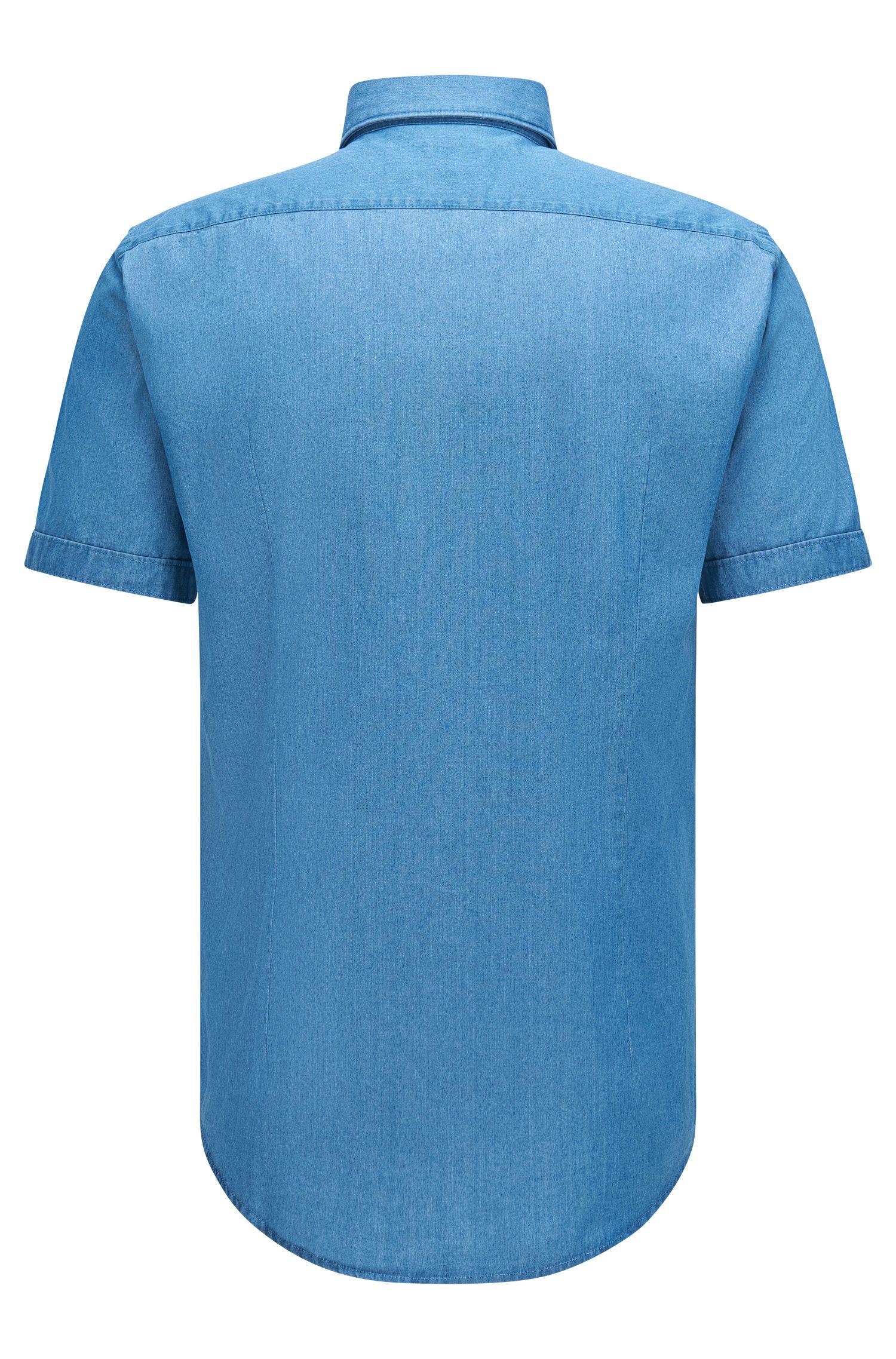 Cotton Button Down Shirt, Slim Fit | Ronn