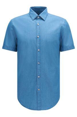 'Ronn' | Slim Fit, Cotton Button Down Shirt, Turquoise