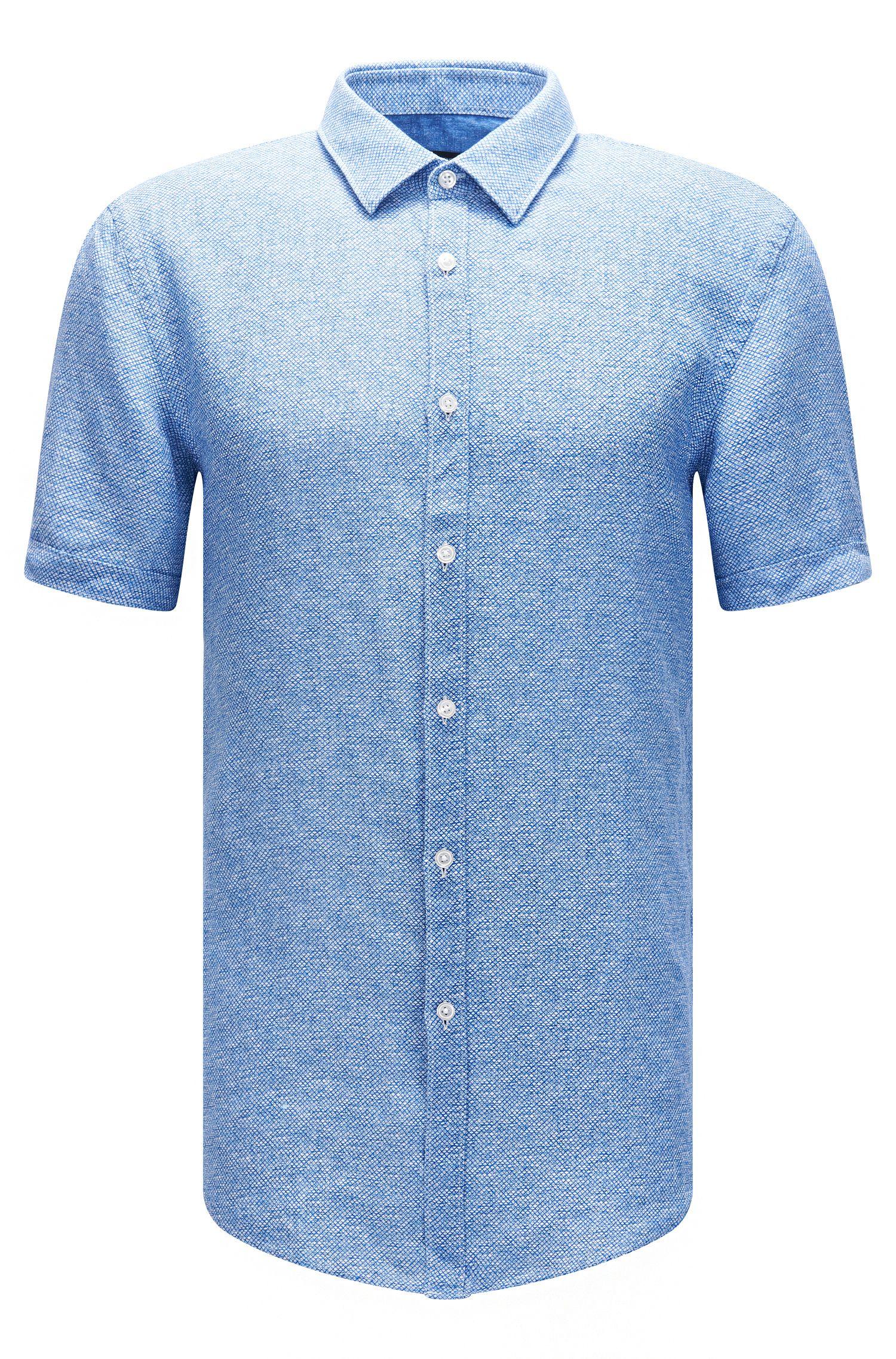 'Ronn' | Slim Fit, Linen Garment-Washed Button-Down Shirt