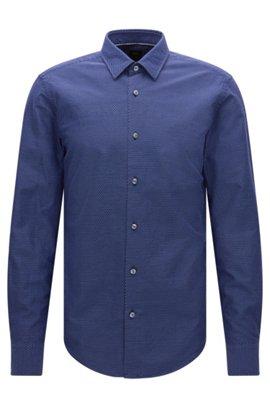 Italian Cotton Button Down Shirt, Slim Fit   T-Riccardo F