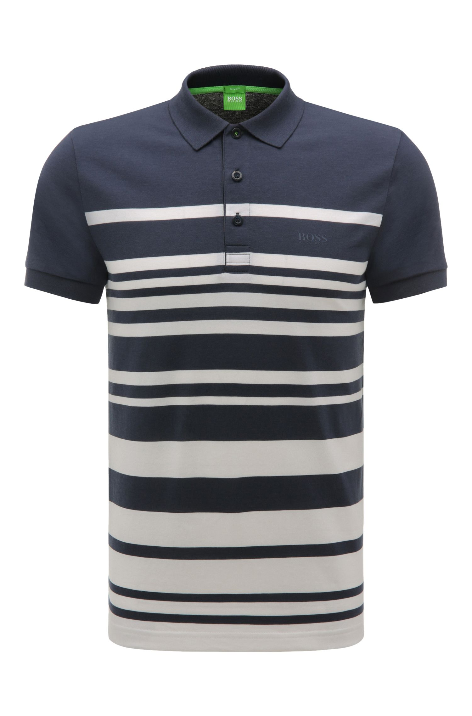 'Paule' | Slim Fit, Cotton Blend Striped Polo