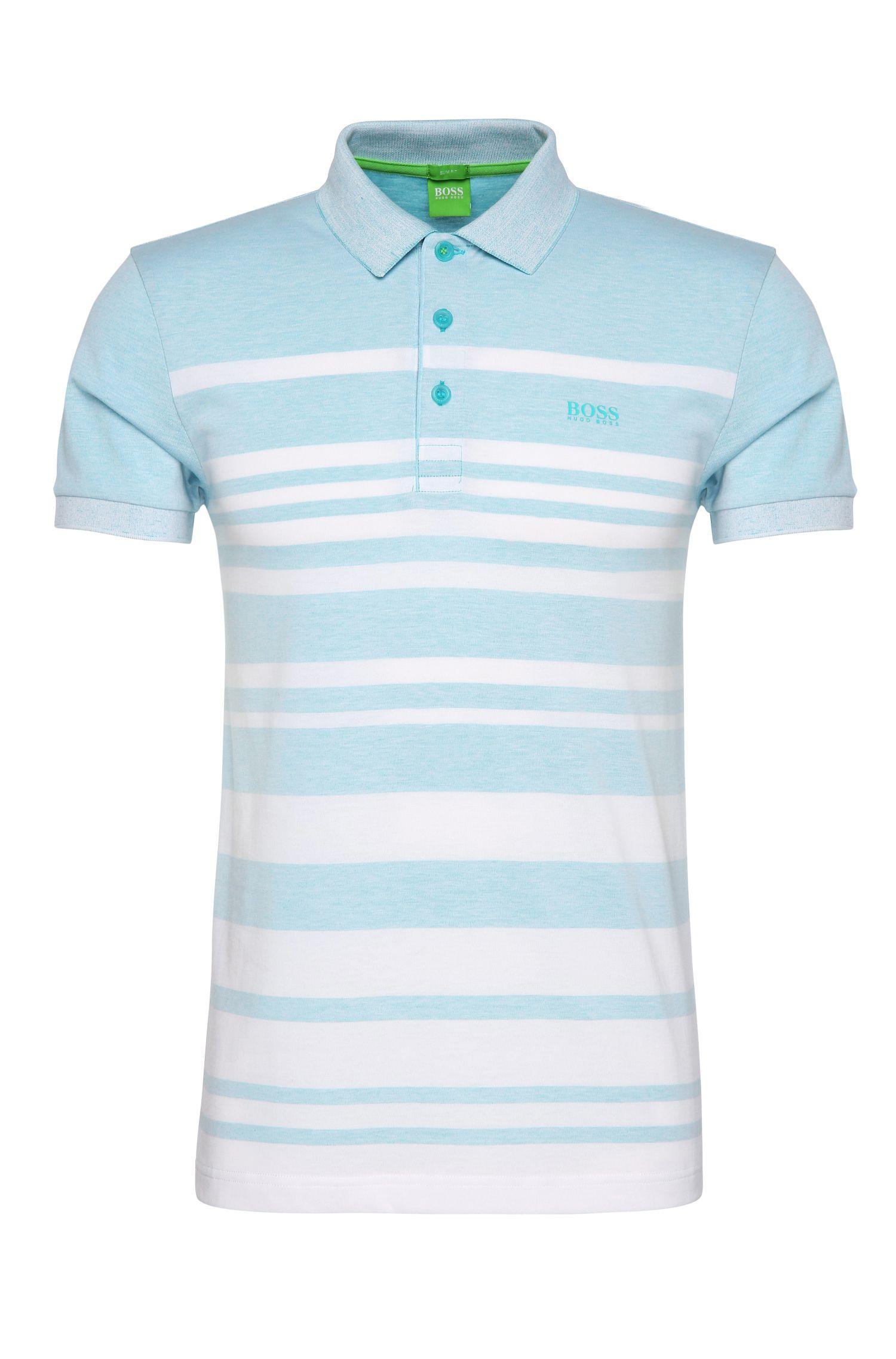 'Paule'   Slim Fit, Cotton Blend Striped Polo