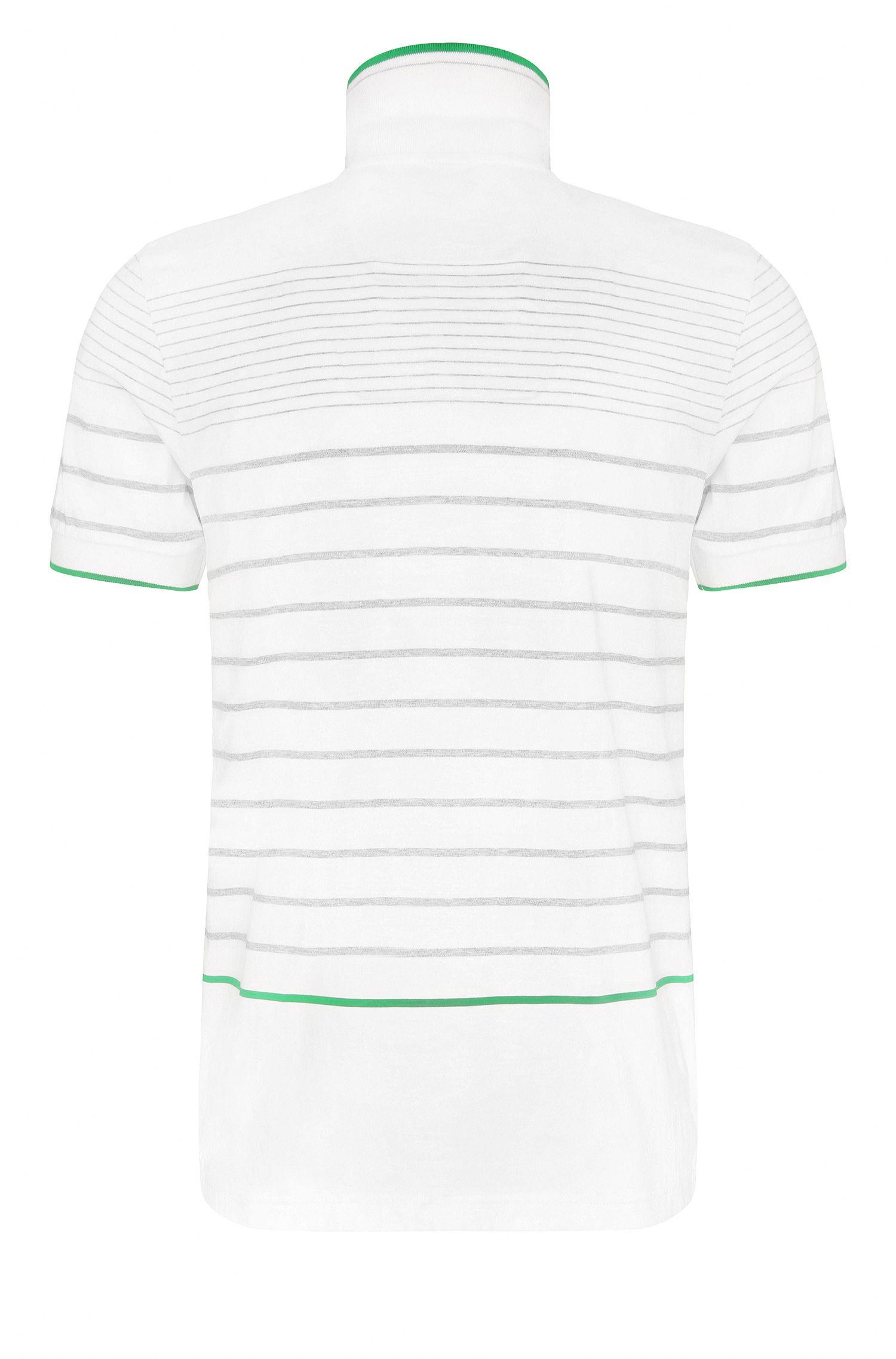 Cotton Polo Shirt, Slim Fit | Paule, White