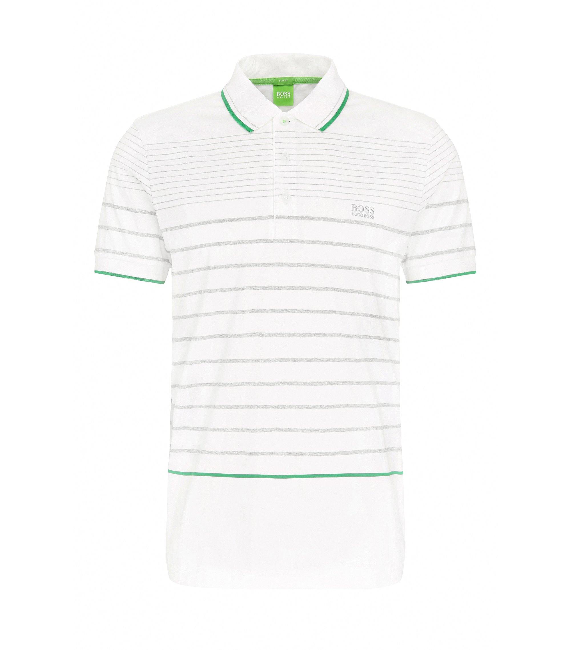 Cotton Polo Shirt, Slim Fit | Paule, White