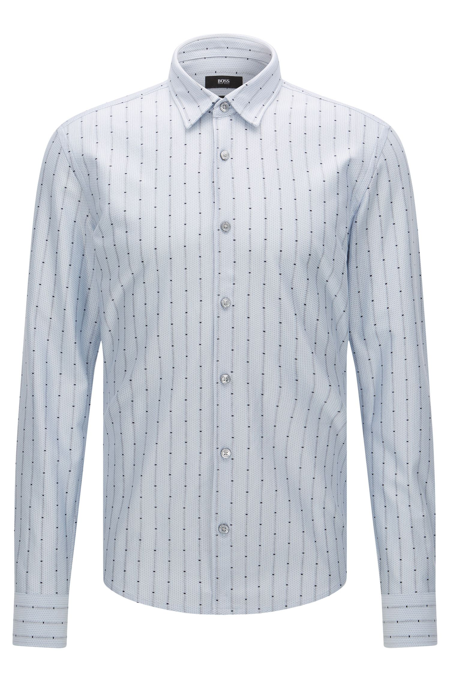 'Reid F' | Slim Fit, Cotton Jersey Button Down Shirt