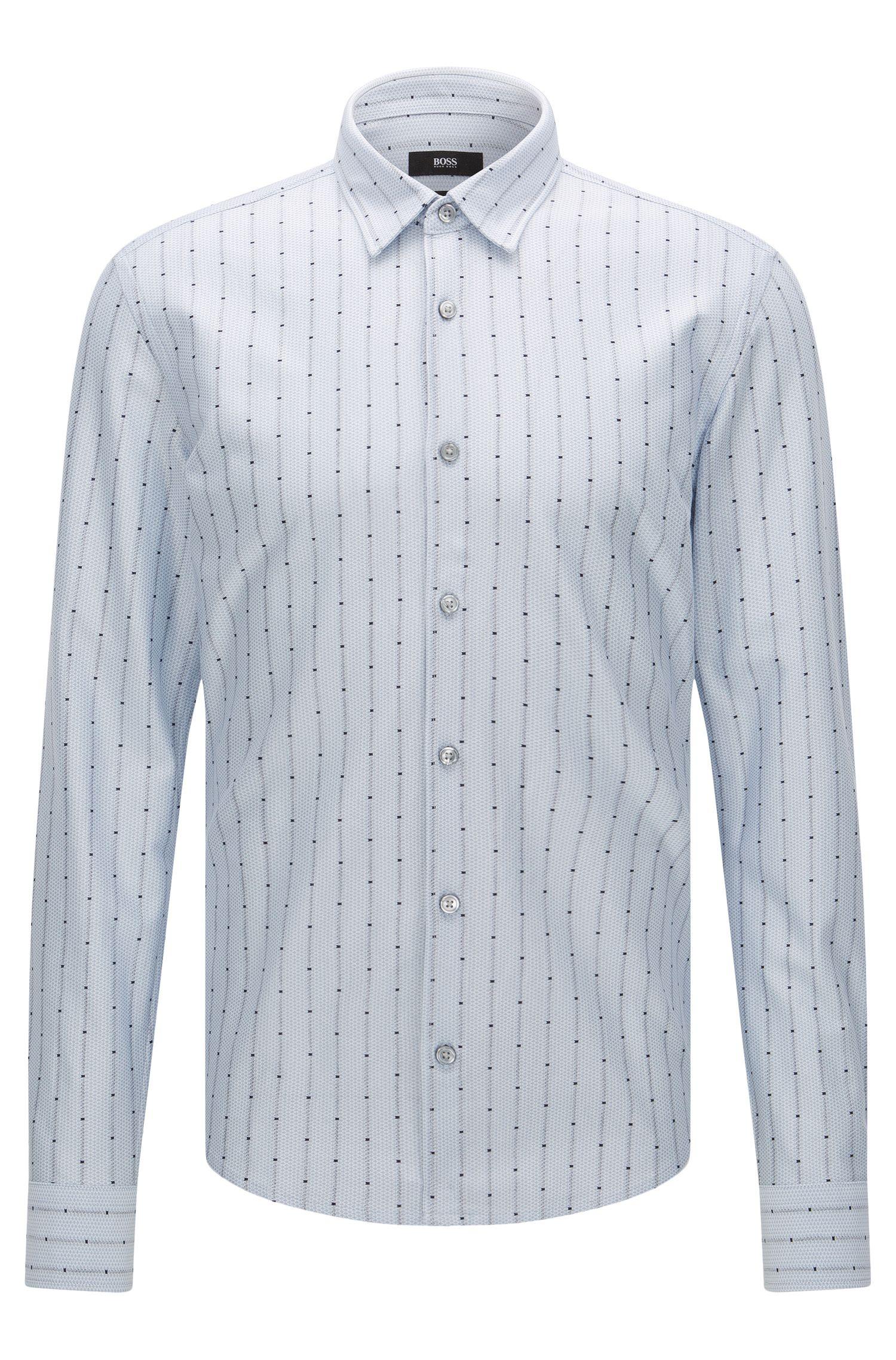 'Reid F' | Slim Fit, Cotton Jersey Button Down Shirt