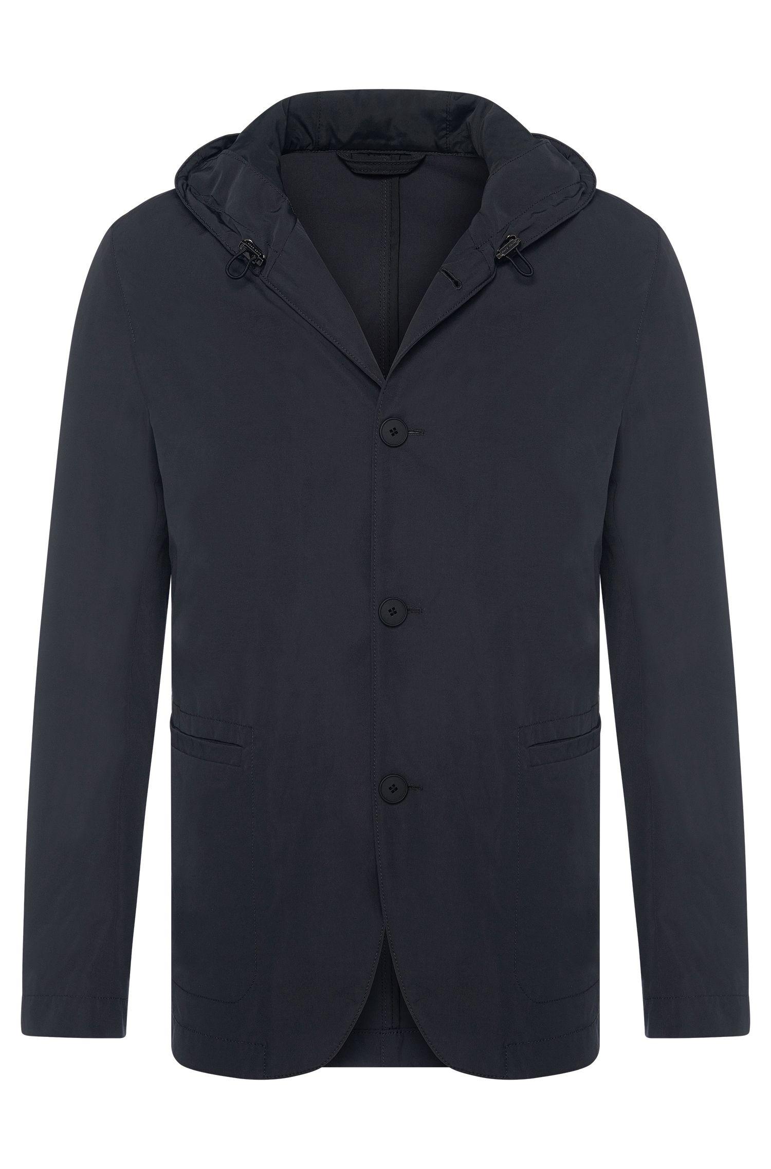 Cotton Blend Hooded Jacket | Josse W