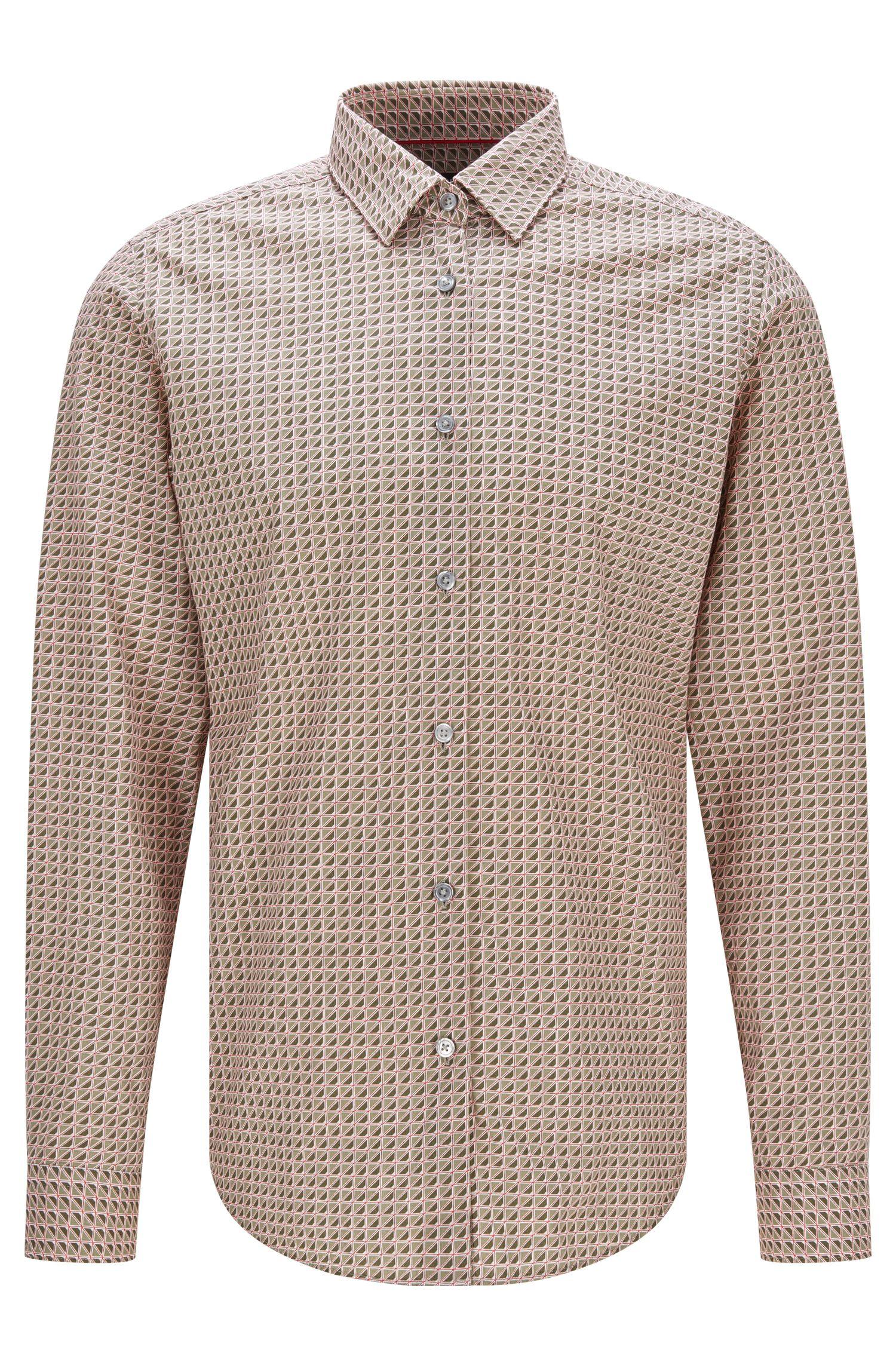 Cotton Button Down Shirt, Regular FIt   Lukas F